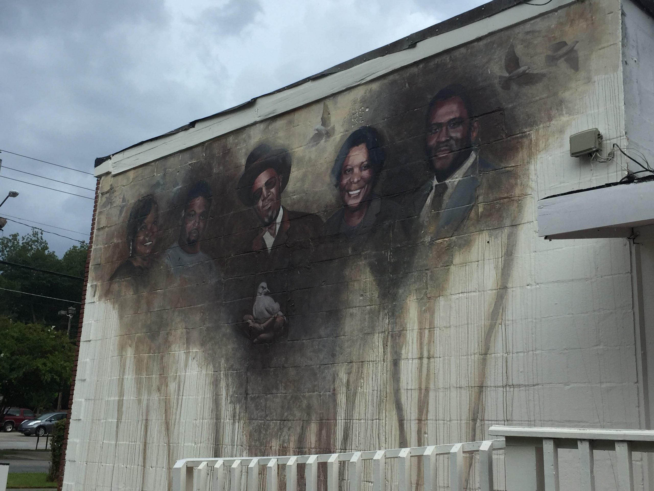 Langford's Barbershop and Style Center Memorial Mural