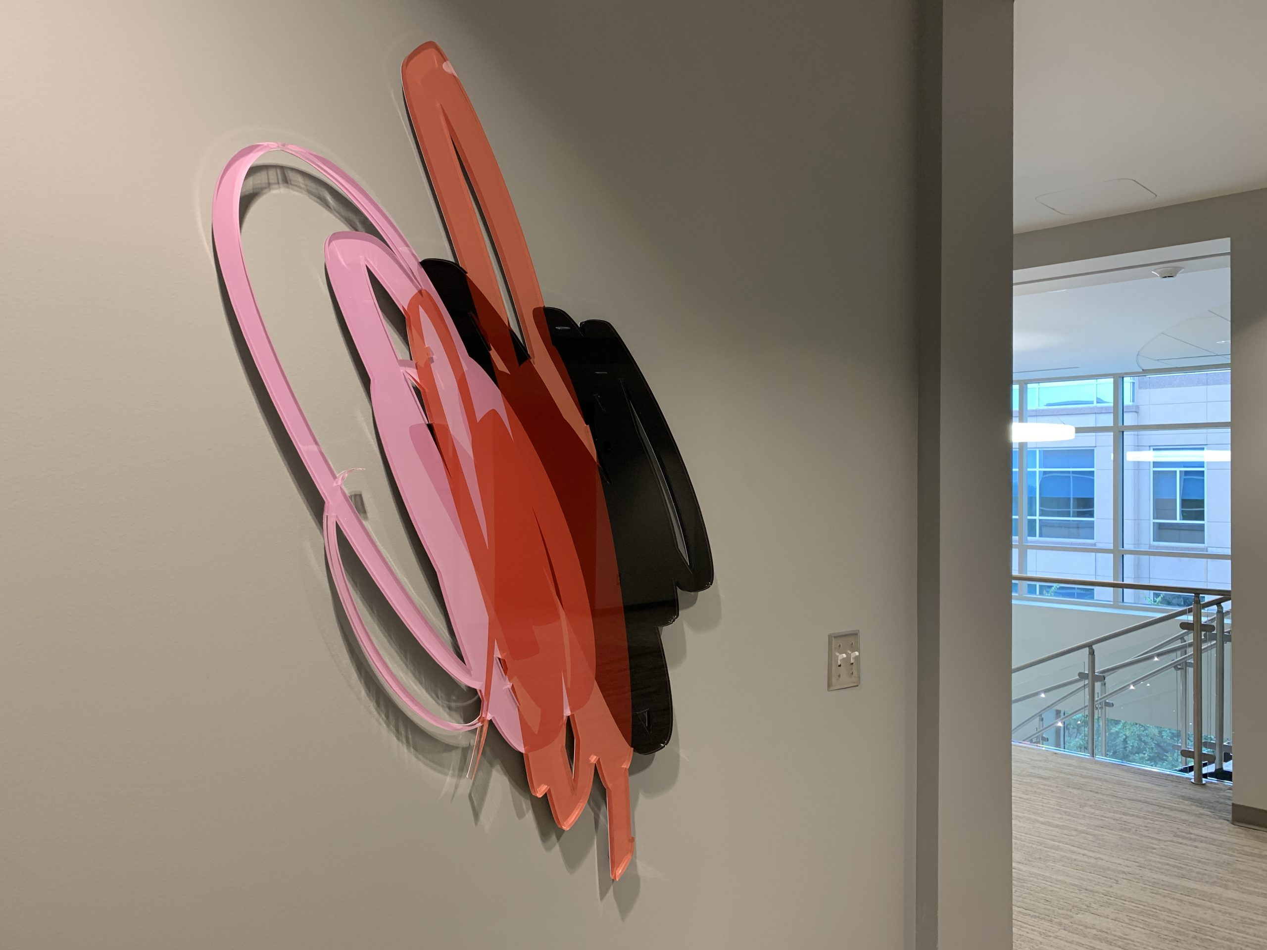 Two Wall Sculptures, Corporate Installation, Atlanta 2020