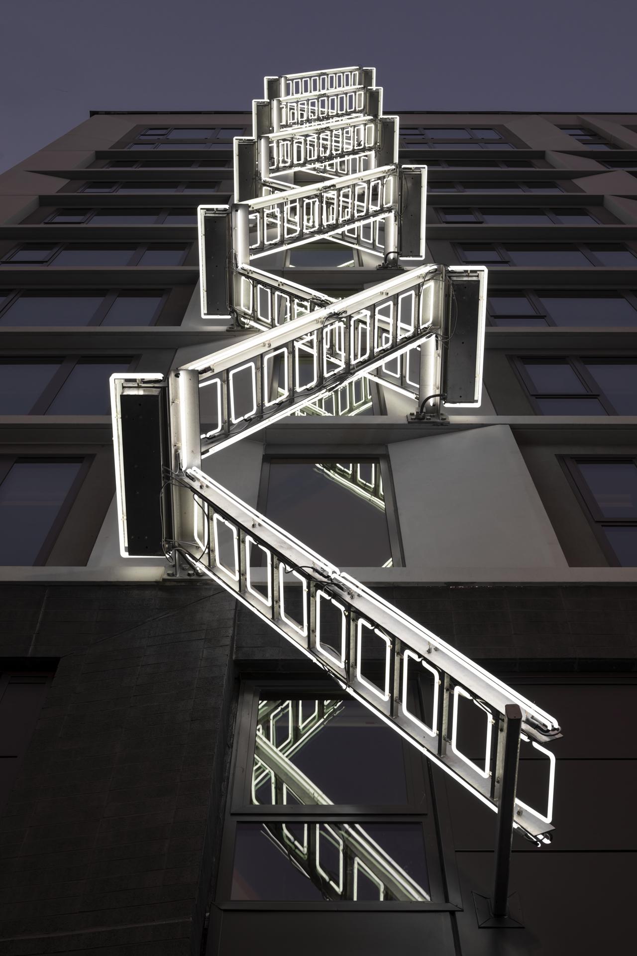 Ivan Navarro, The Ladder – 50 Jones, SF CA – Shorenstein