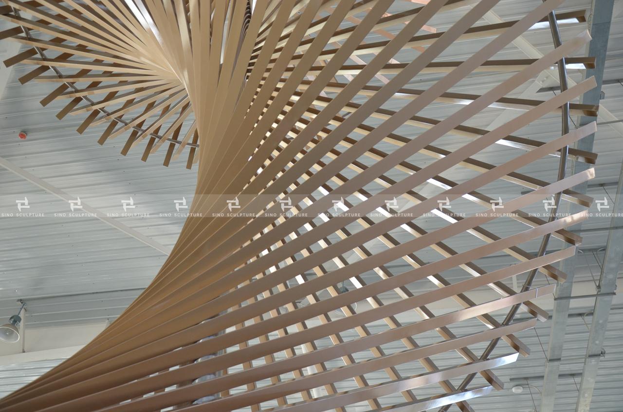 Stainless Steel Atrium Sculpture, Koningsdam cruise ship, Holland America Line's Pinnacle-class