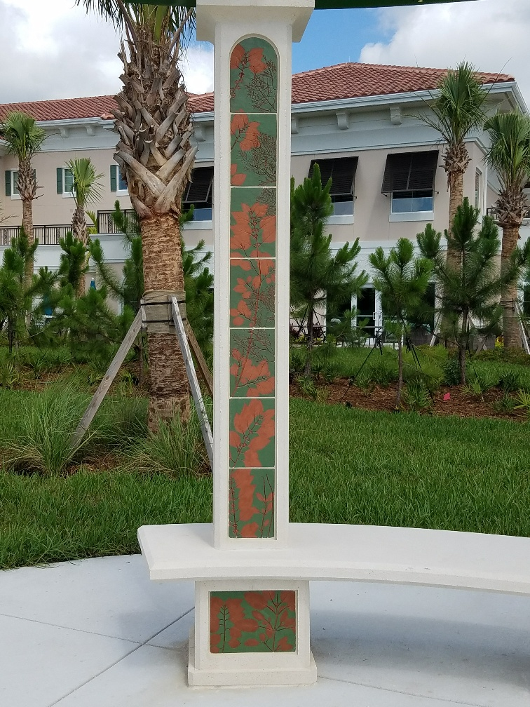 """""""Shades of Green"""" functional public art for HarborChase of Palm Beach Gardens"""