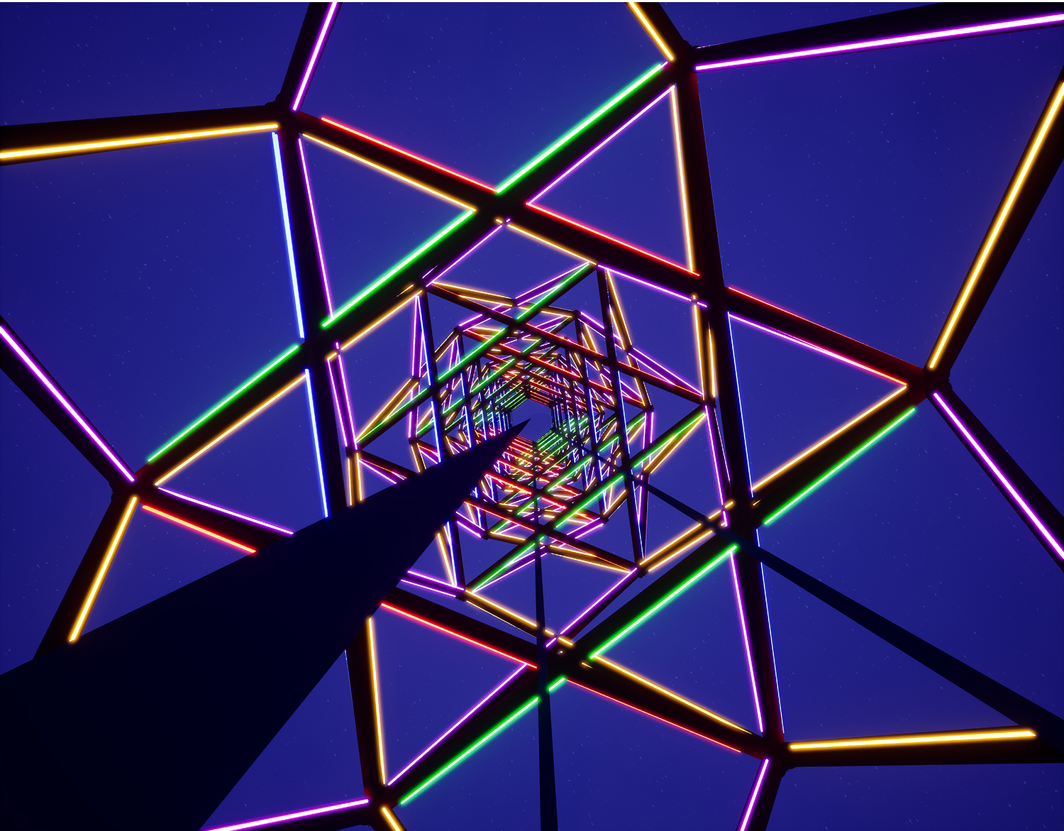 Double spiral Light Tower