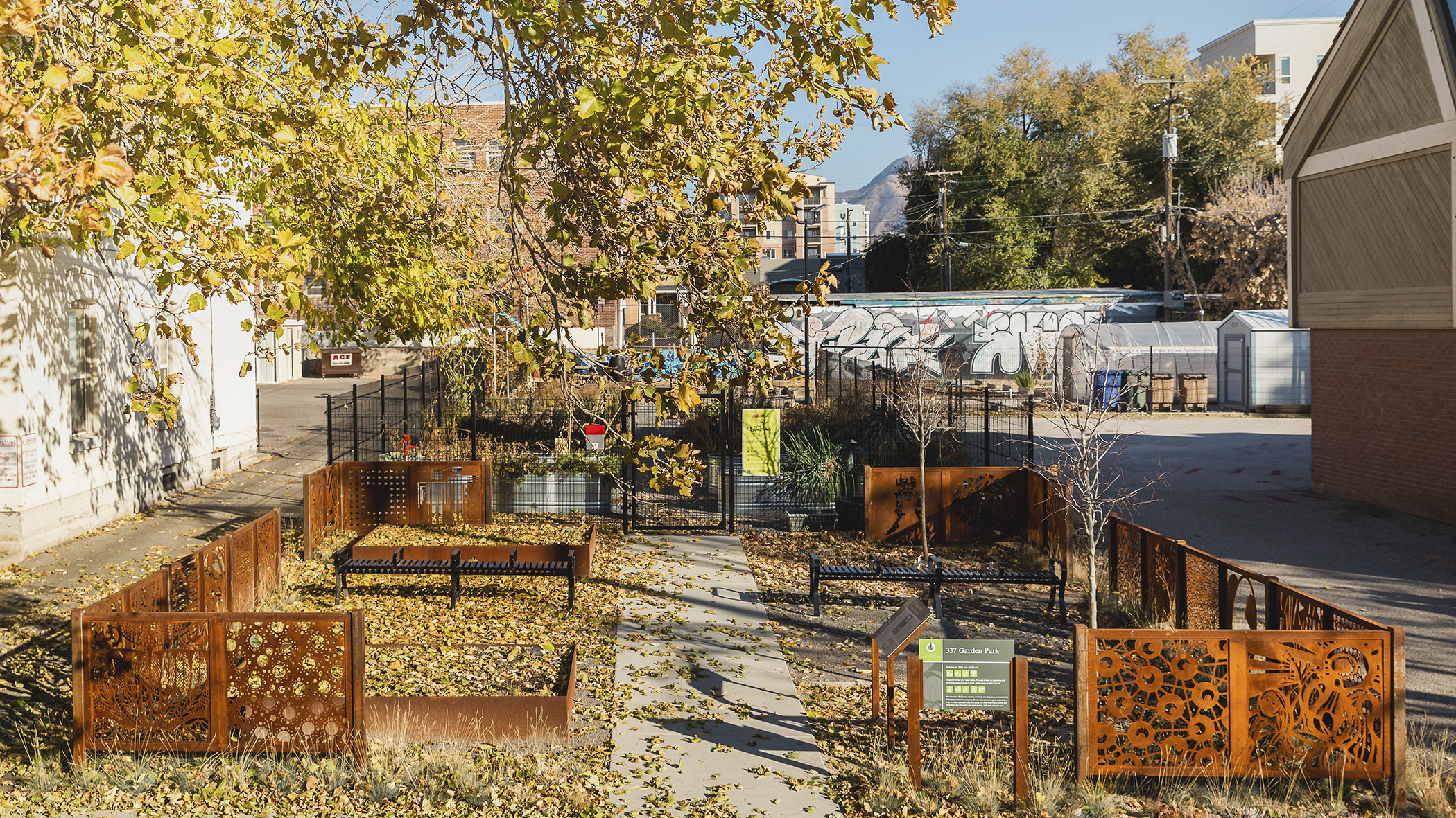 Veggie Garden — 337 Pocket Park Fence