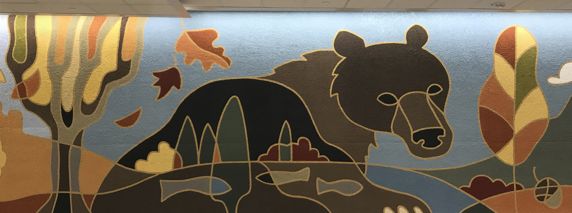 Salt Lake City International Airport Mid-concourse Tunnel Murals