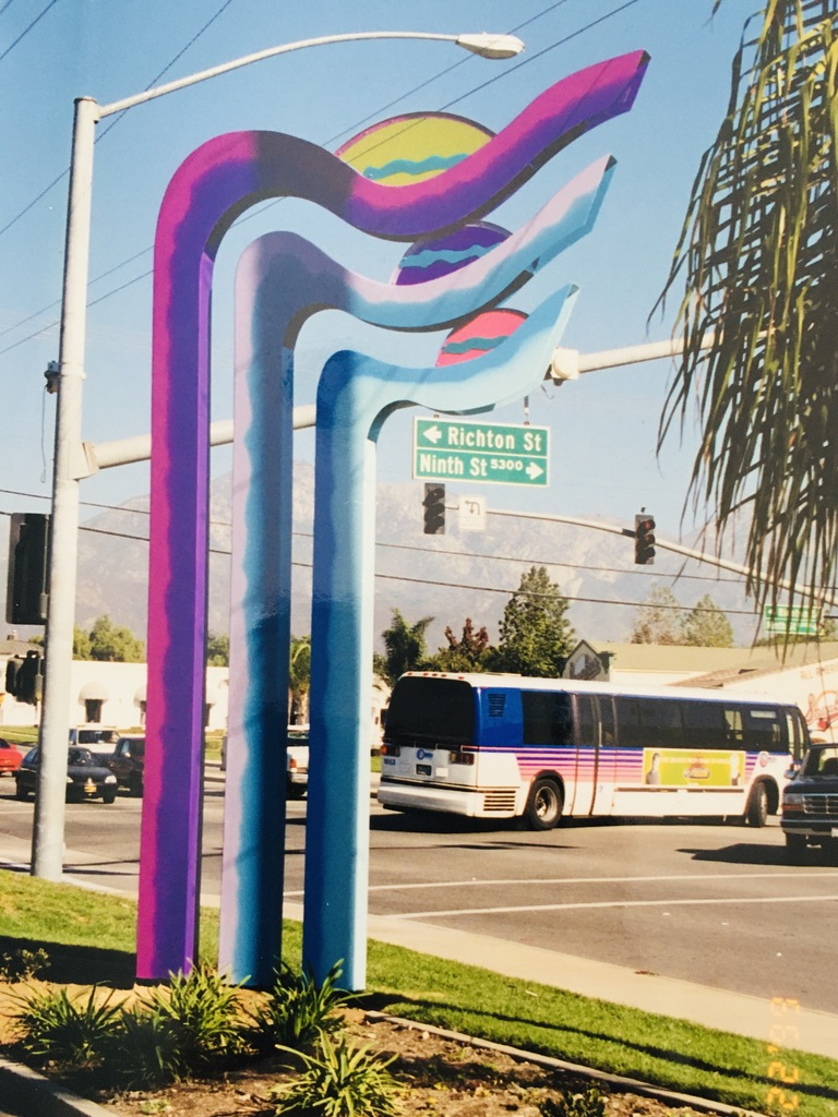 Sunrise / Sunset – a monumental sculpture created for The City of Montclair, California
