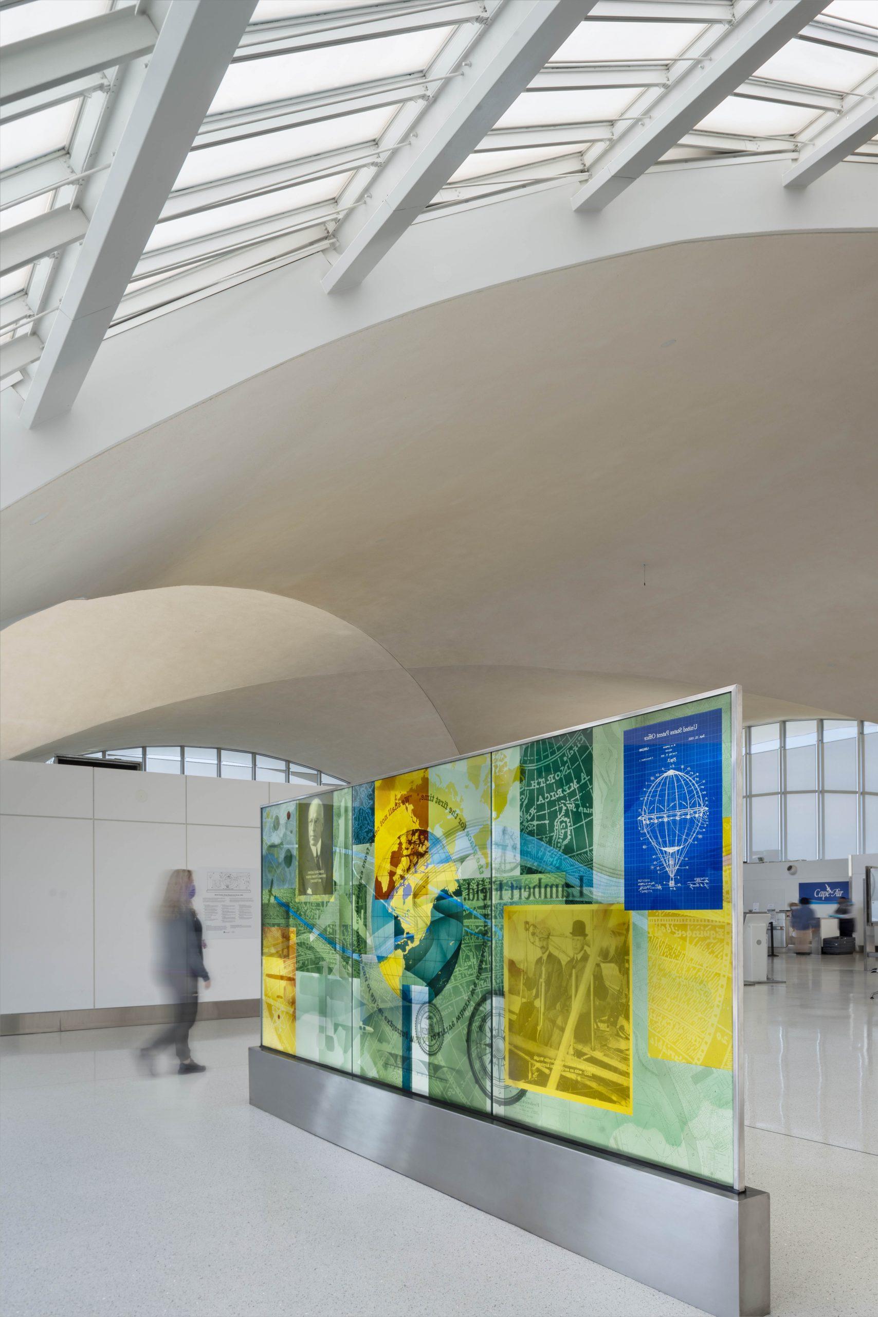 """""""Dream Beyond the Clouds"""" St. Louis Lambert International Airport."""