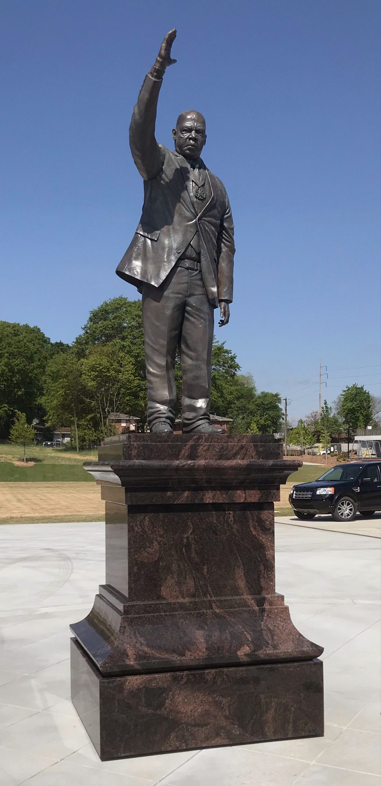 CONGRESSMAN JOHN LEWIS IN THE RODNEY COOK SR. PEACE PARK OF ATLANTA