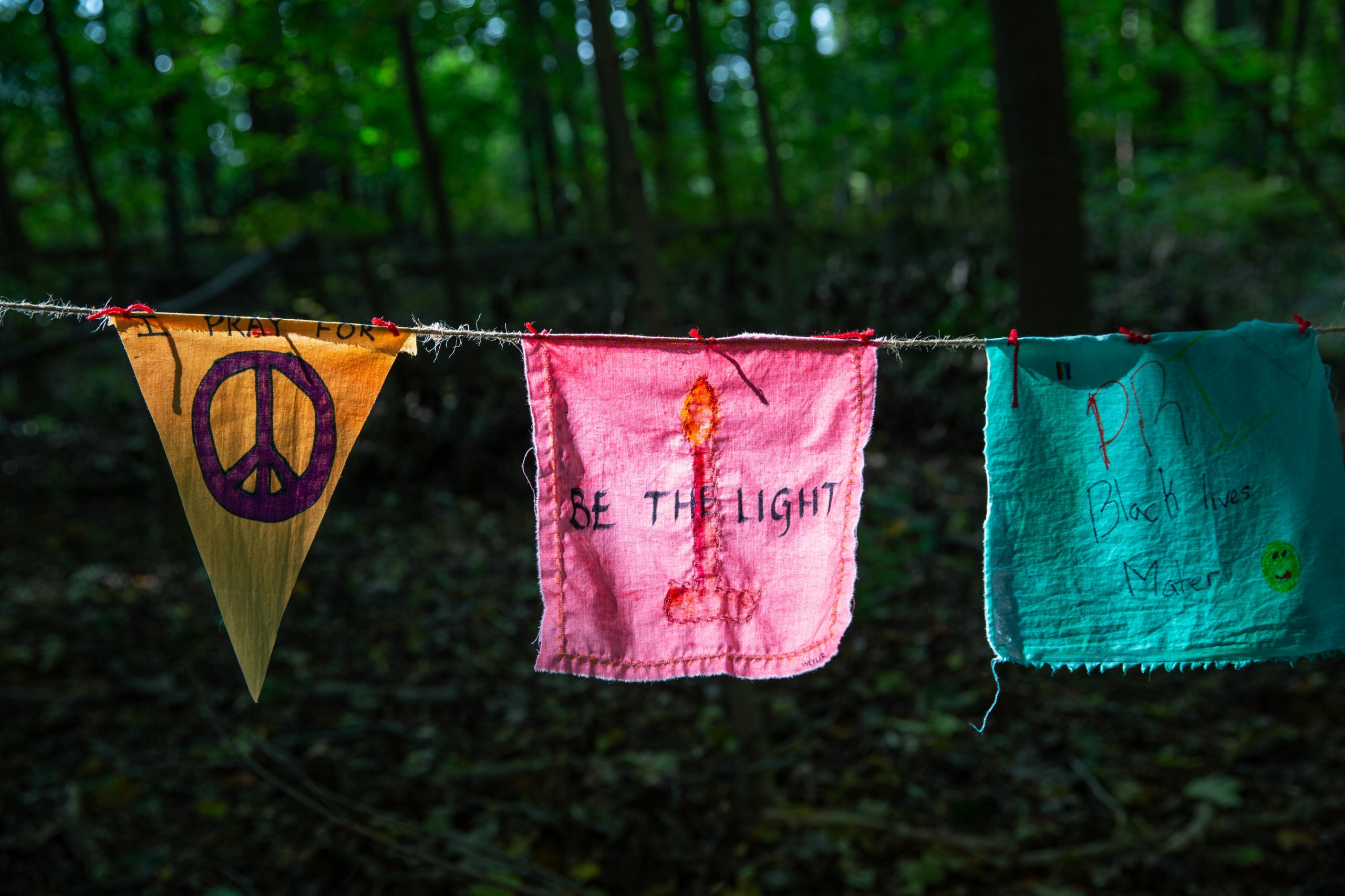 Prayer Flags in Enchanted Forest