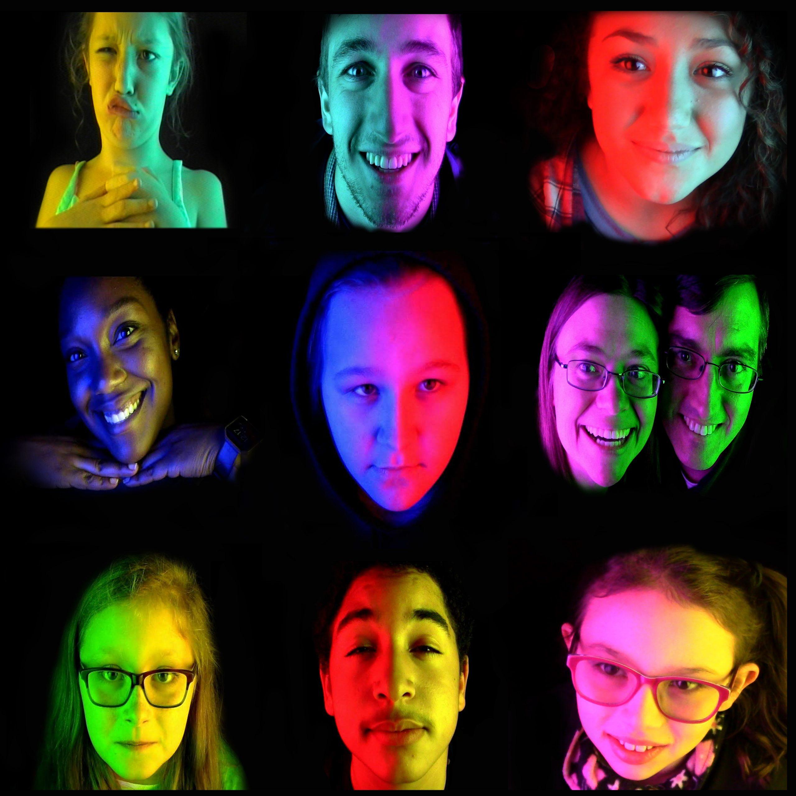 FACES inside The Chromilluminator photobooth