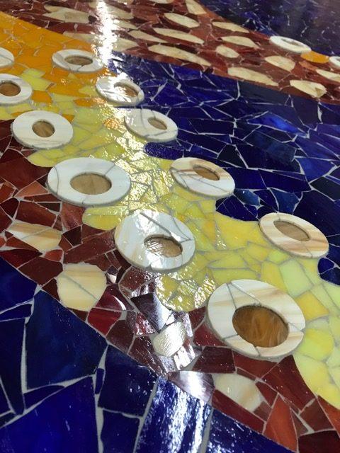 Octopus Glass Mosaic