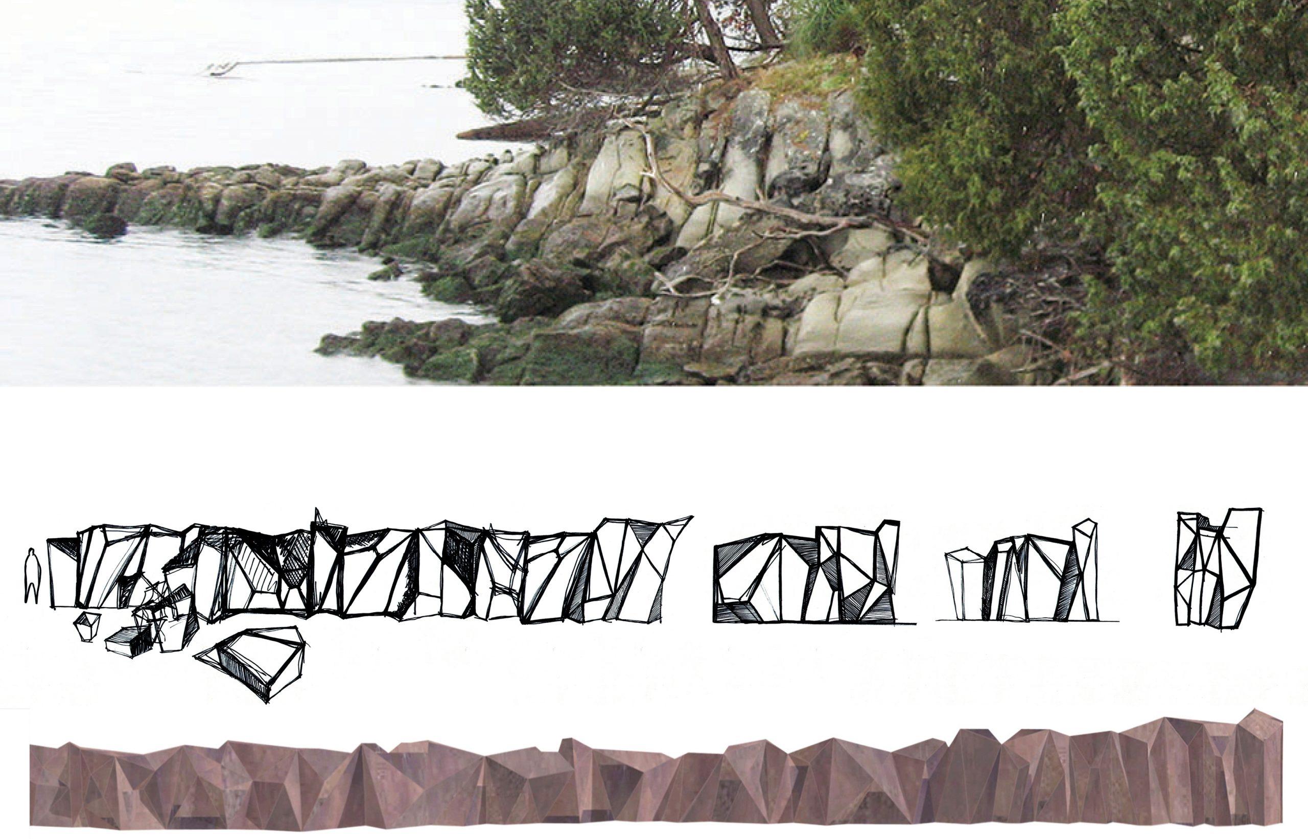 Metamorphous – A Corten Steel Seawall Sculpture and Foreshore Development