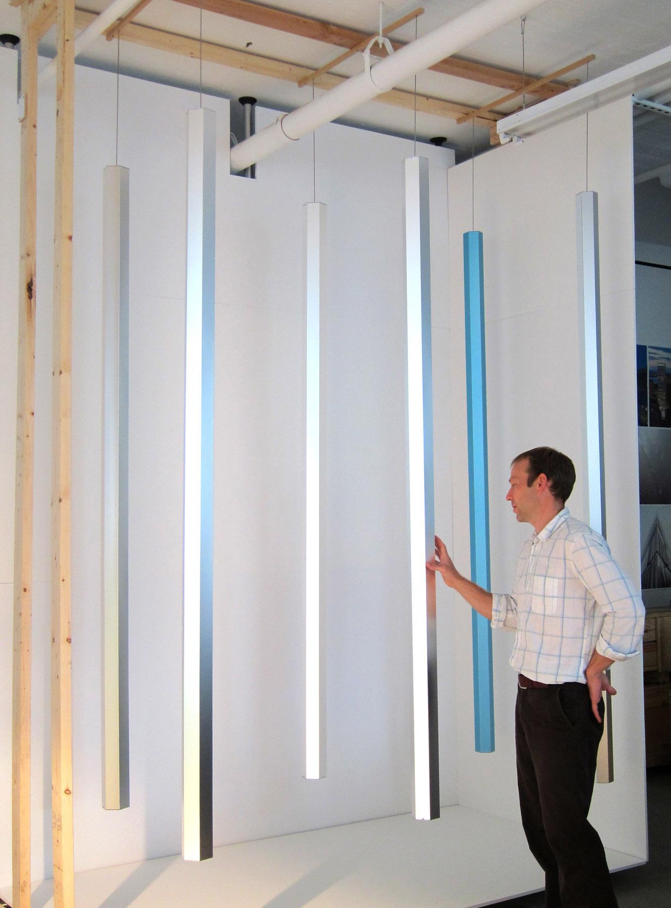 Suspended Light Pillars
