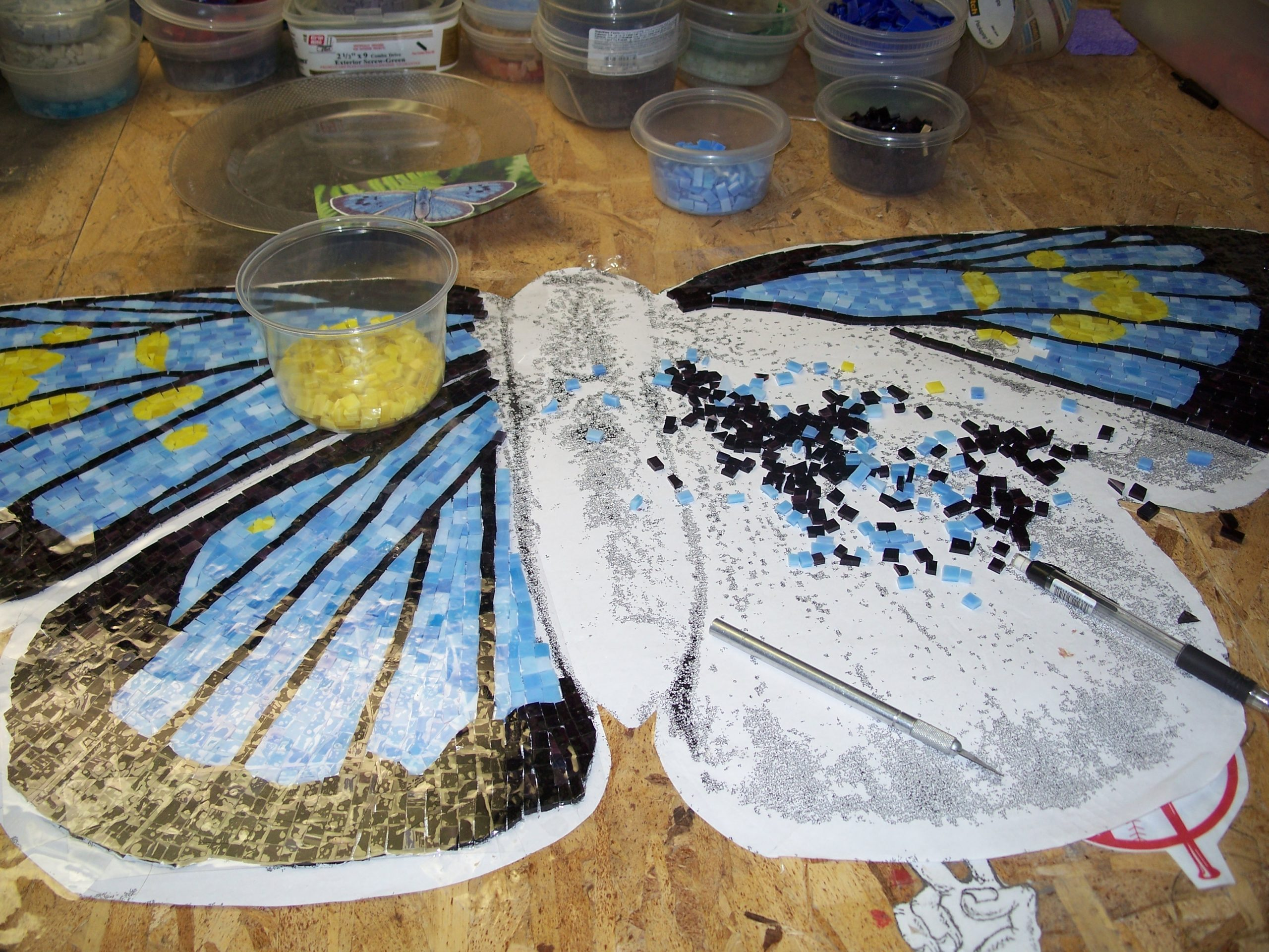 """Nature's Berth"" Large scale mosaic sculpture"