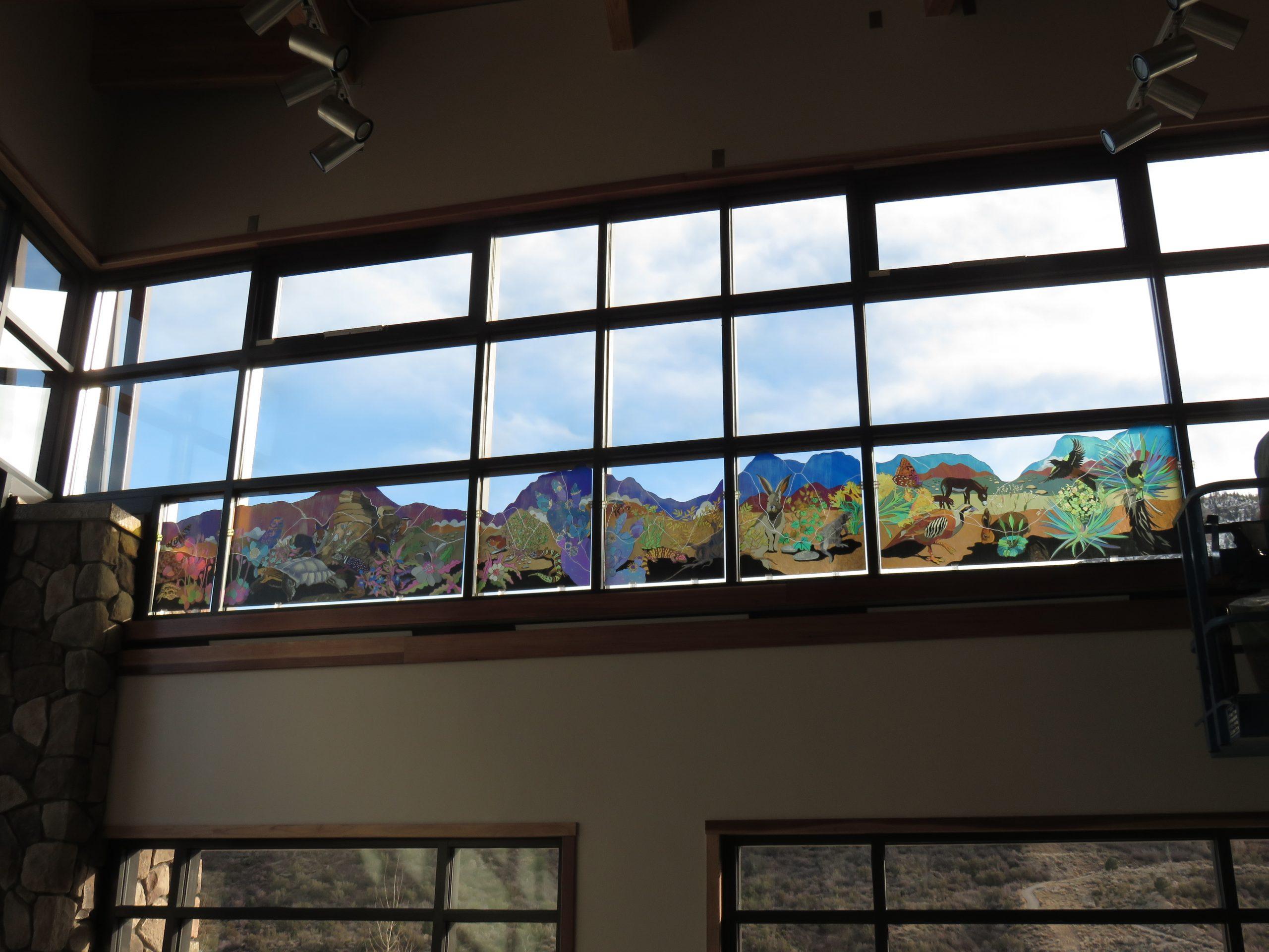Spring Mountains Visitor Gateway Interactive Polarized Light Window Installation