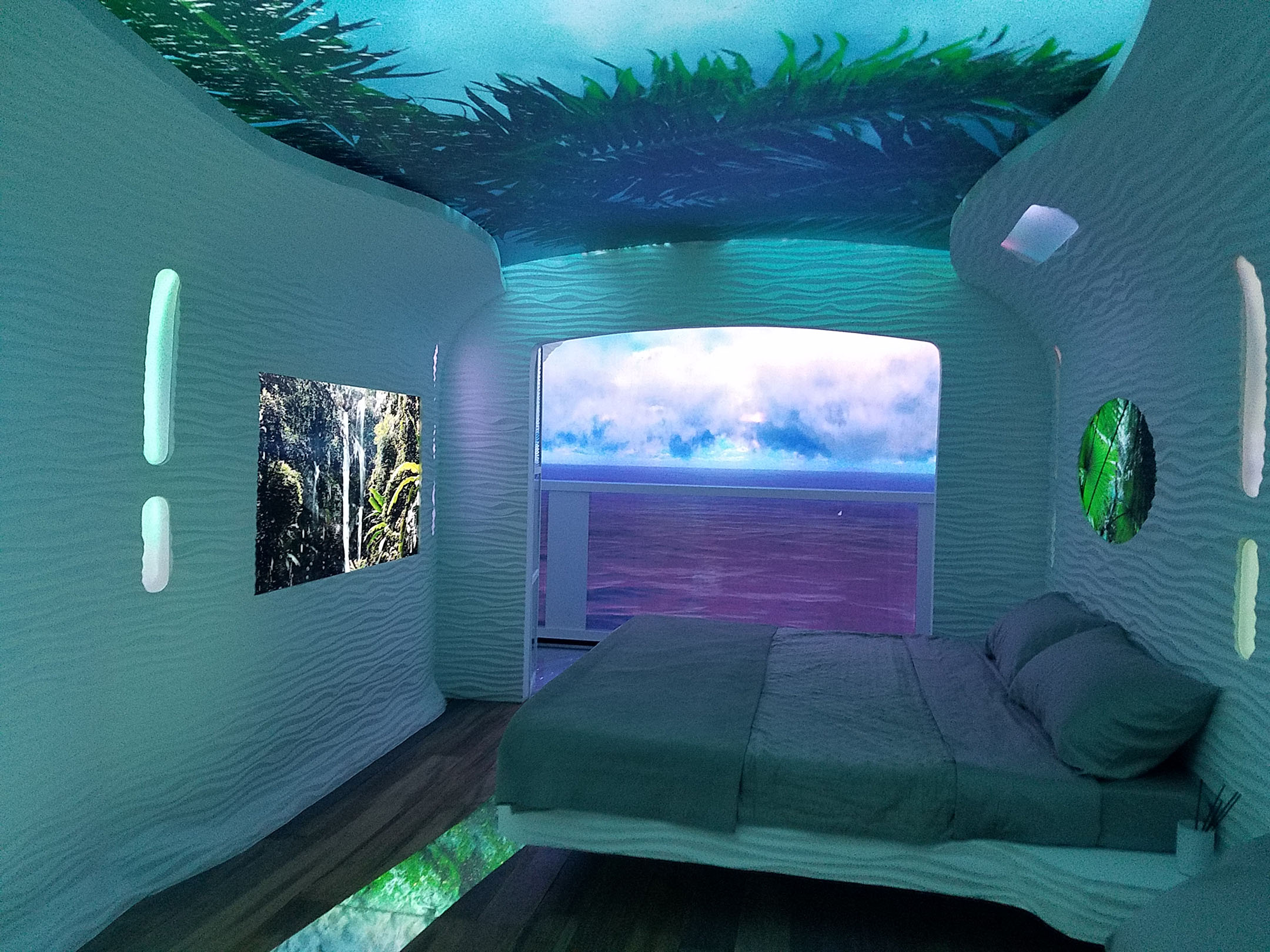 Immersive Tranquility with Digital Art on Digital Canvas