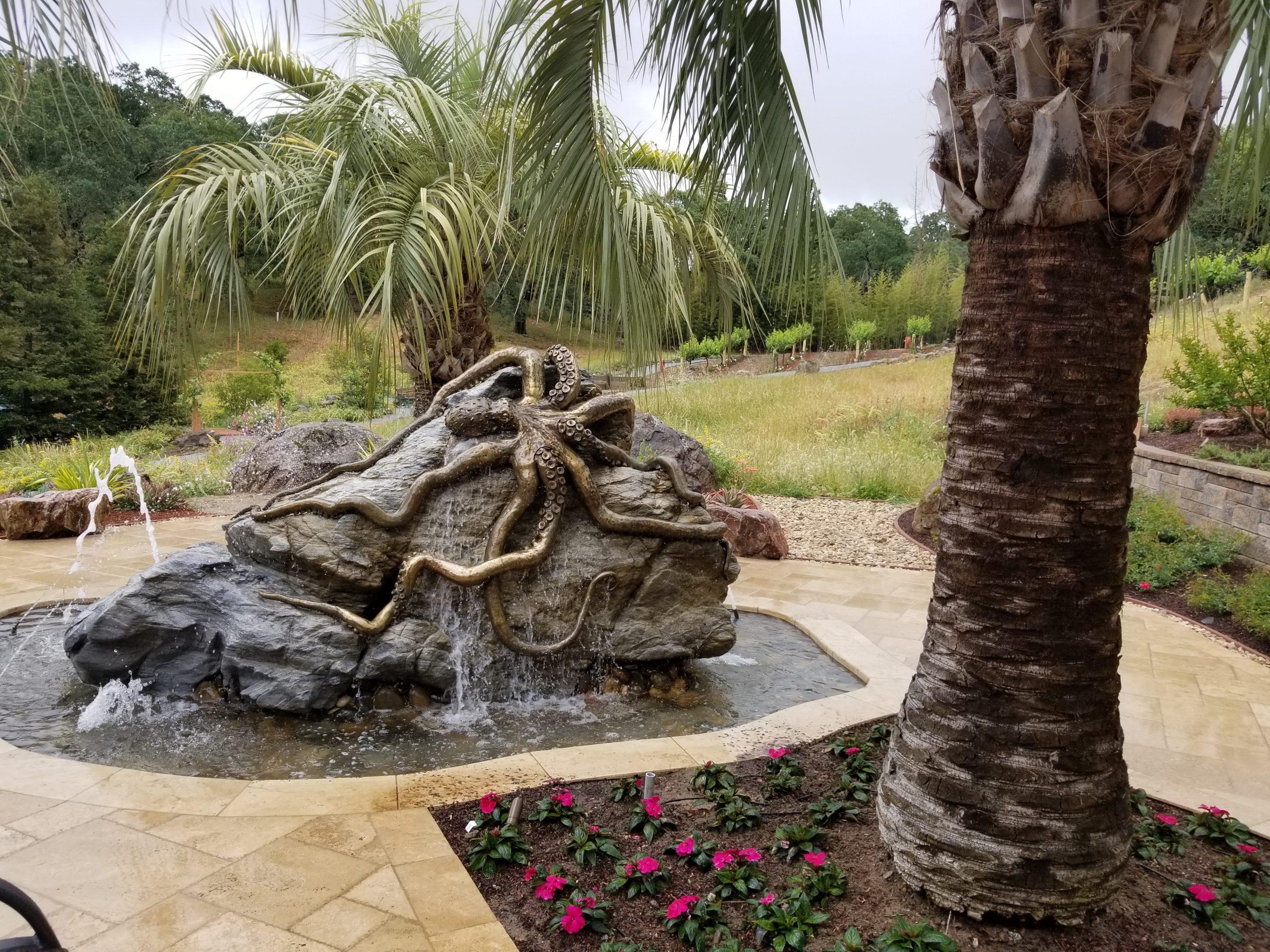 Bronze Octopus Water Feature