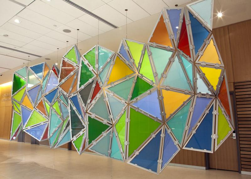 Glass Hexagonal Perturbation -Hive Brane
