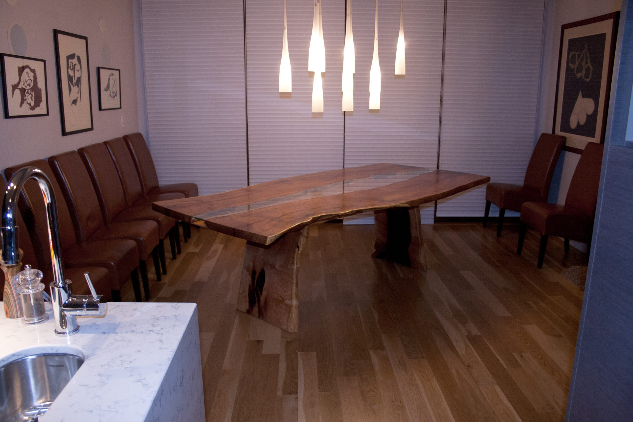 Mesquite Slab Dining Table