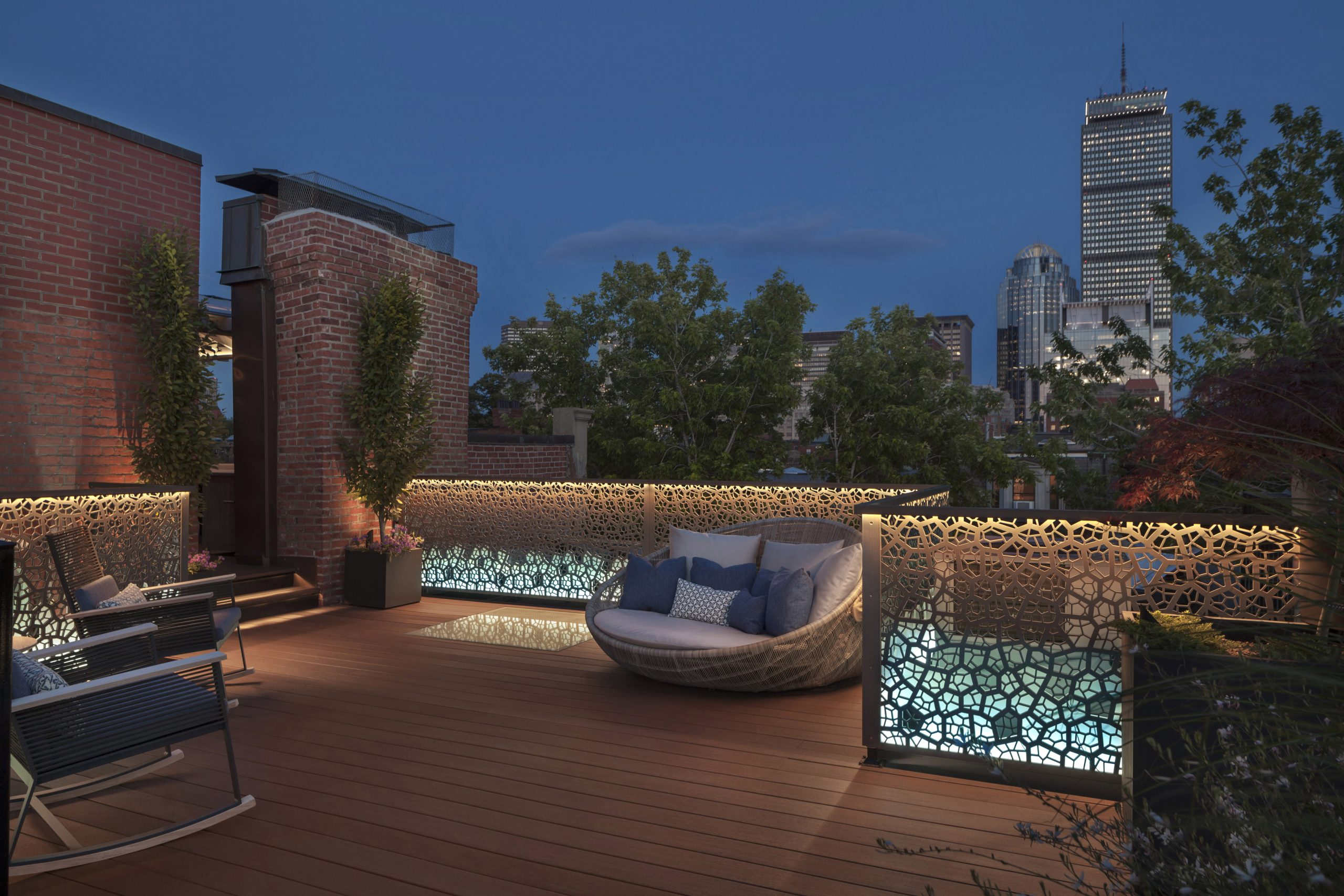 Rooftop Railing Screens