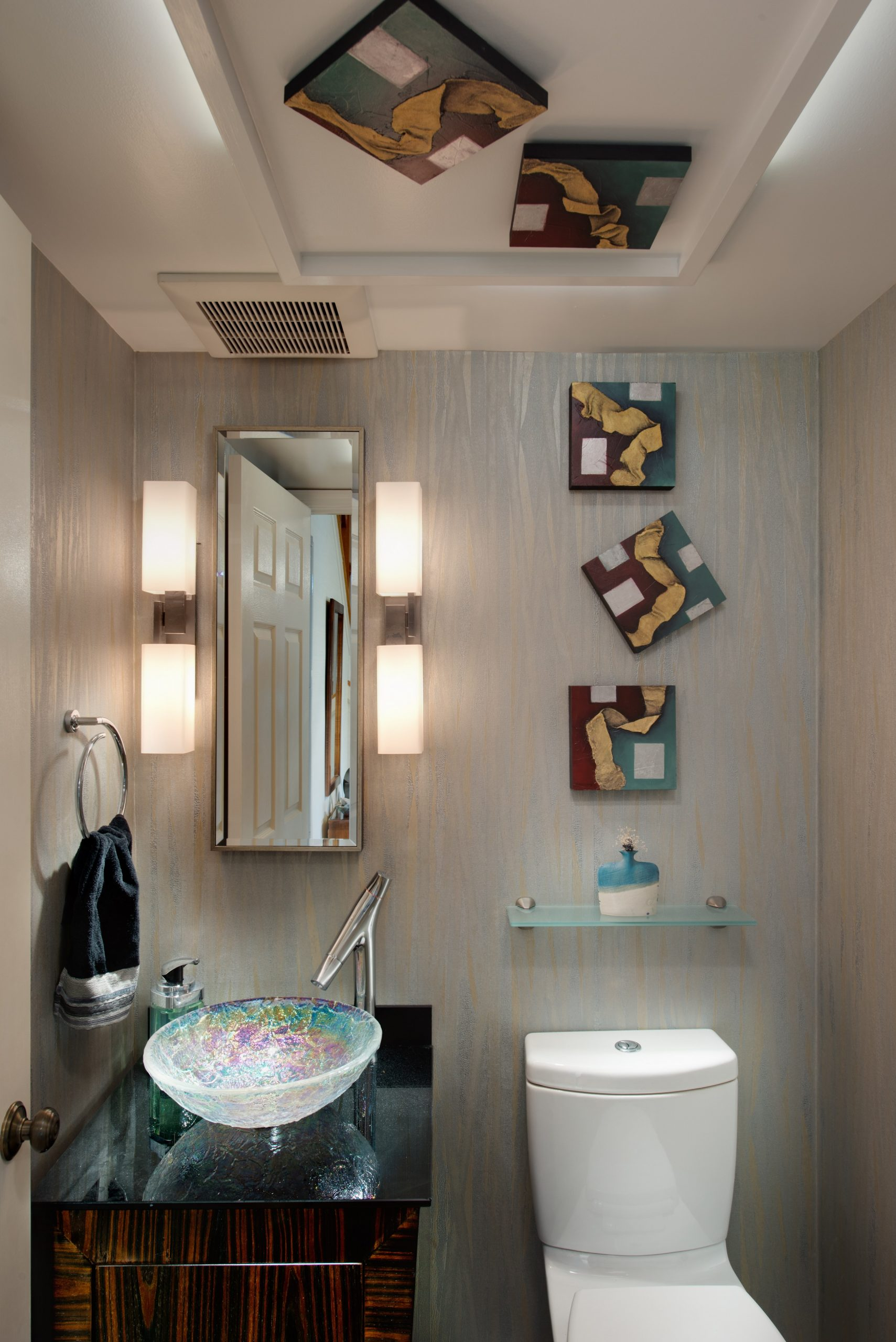 Contemporary Lift to an Outdated Powder Room