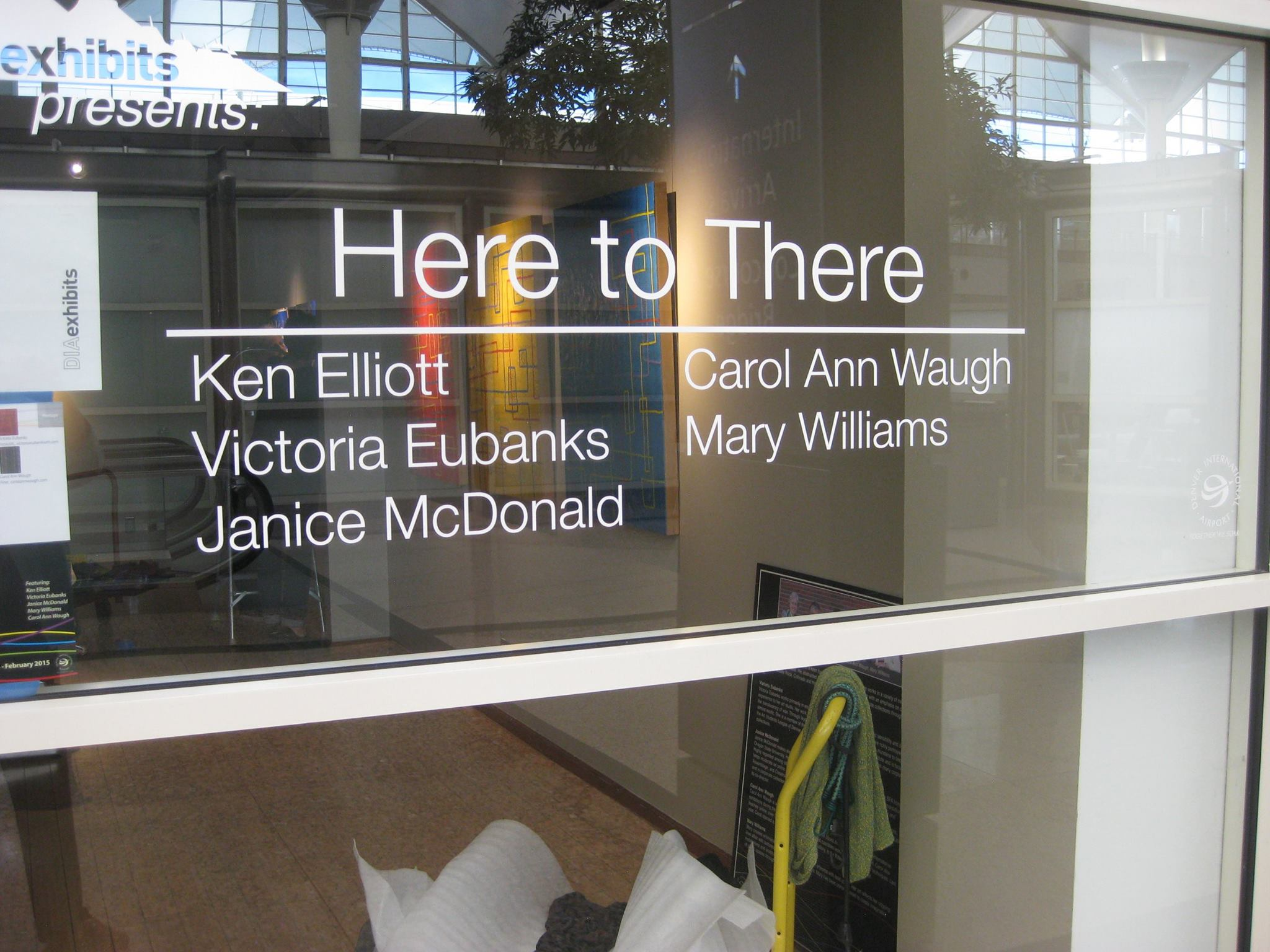 """""""here to there"""" exhibit at Denver International Airport Art Gallery"""