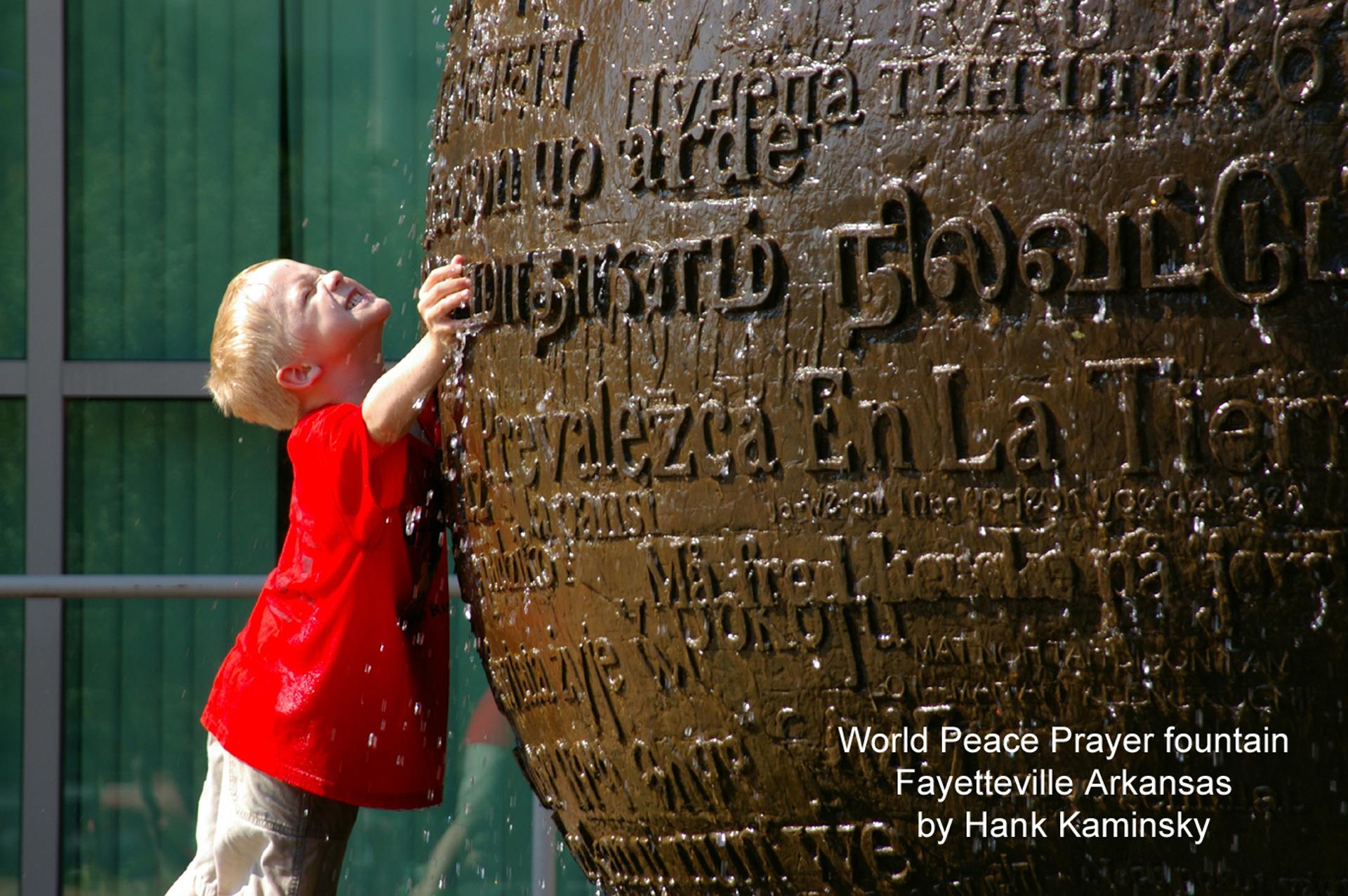 The World Peace Prayer Fountain Sculpture
