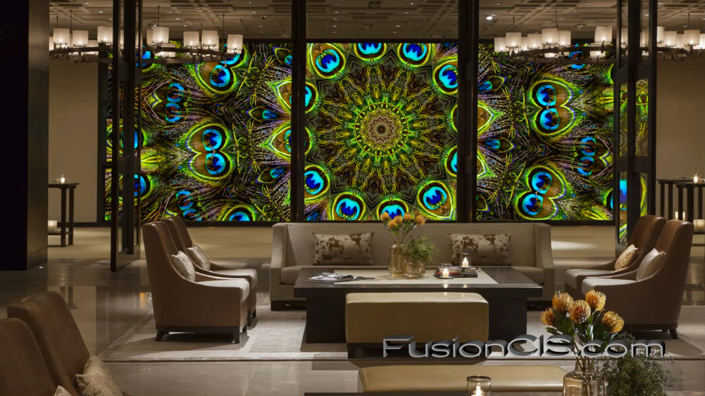 Digital Stained Glass, Programmed to Ebb & Flow with the Pace of the Space