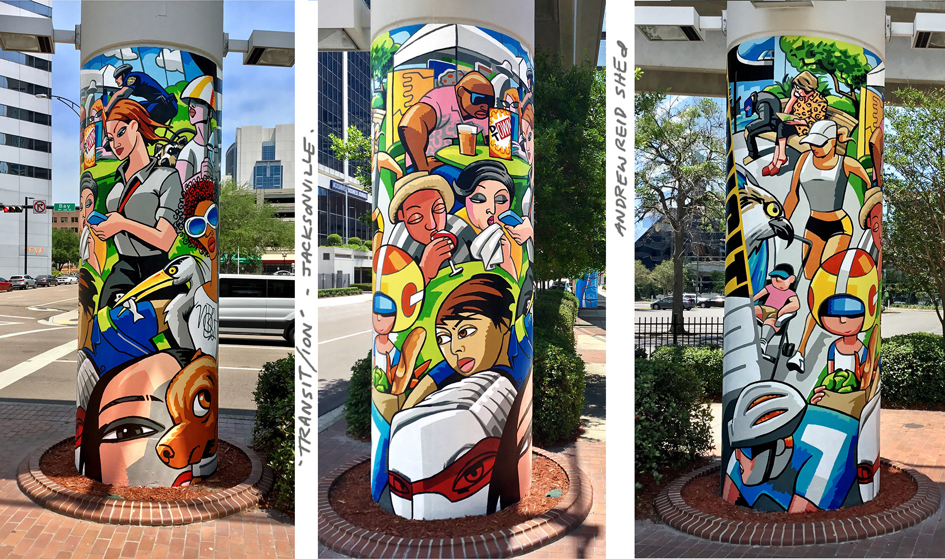Eight Skyway Columns