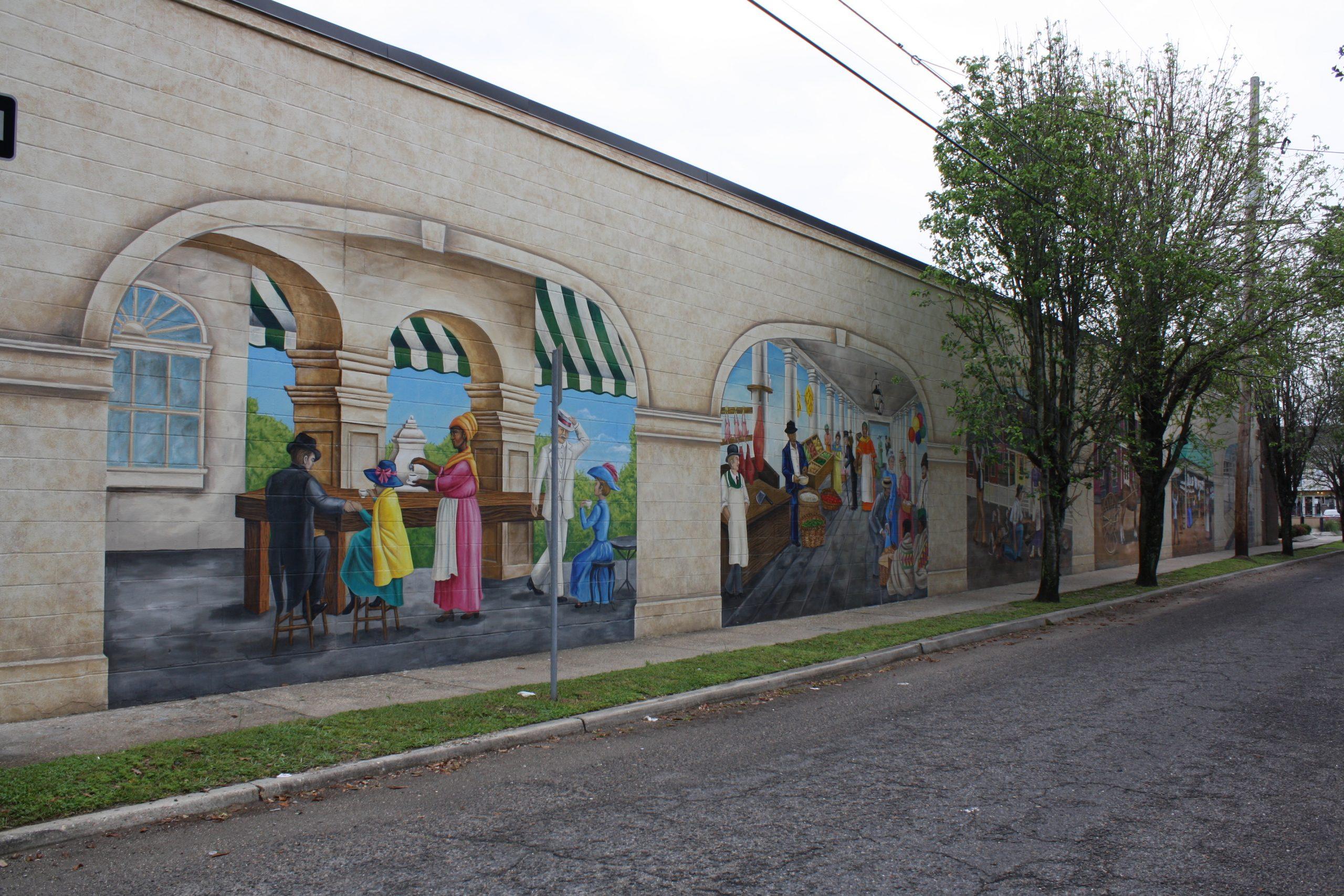 """Breaux Mart """"Makin' Groceries"""" Mural"""