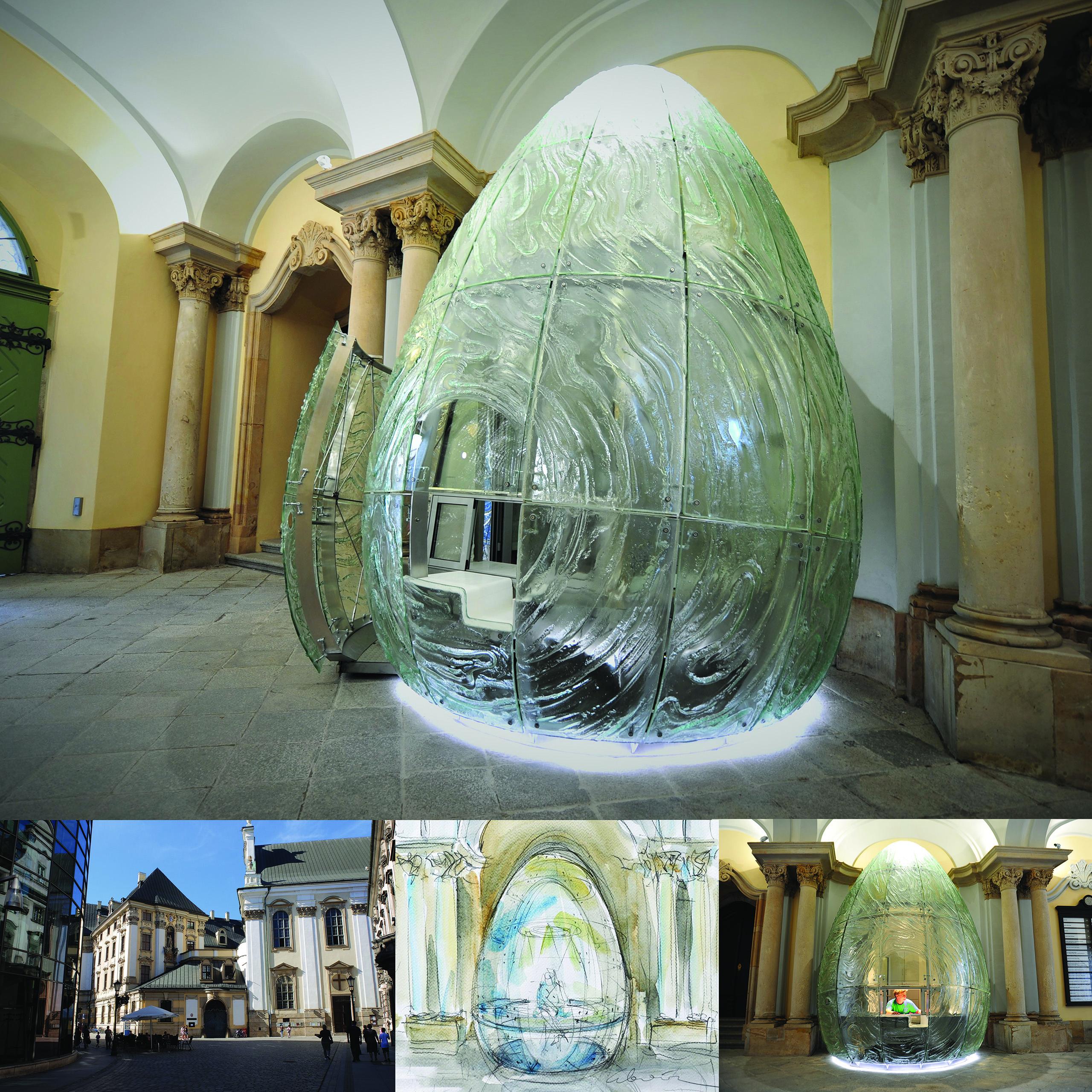 Glass Art EGG – Concierge Desk – University of Wrocław