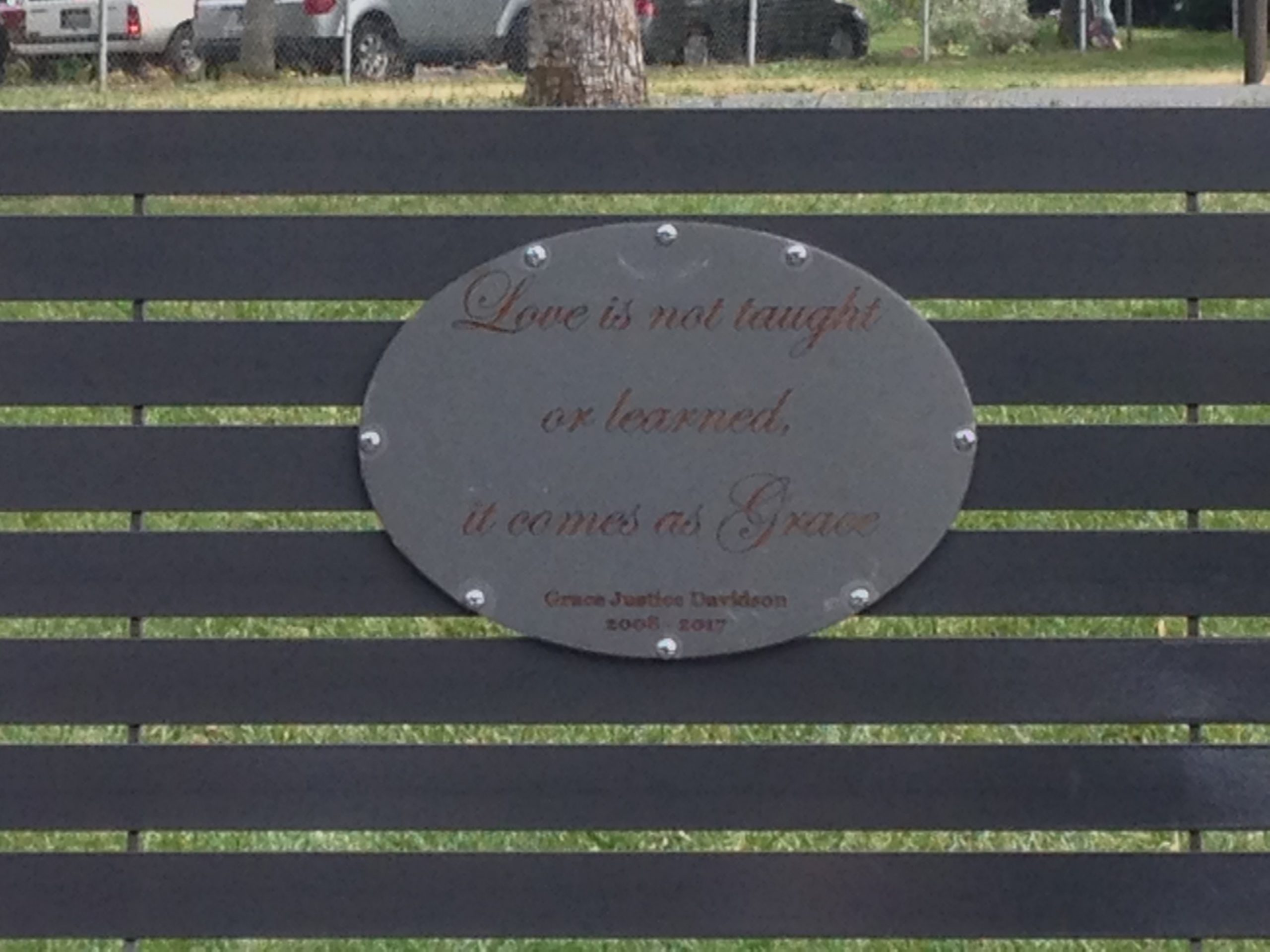 Graces Memorial Bench