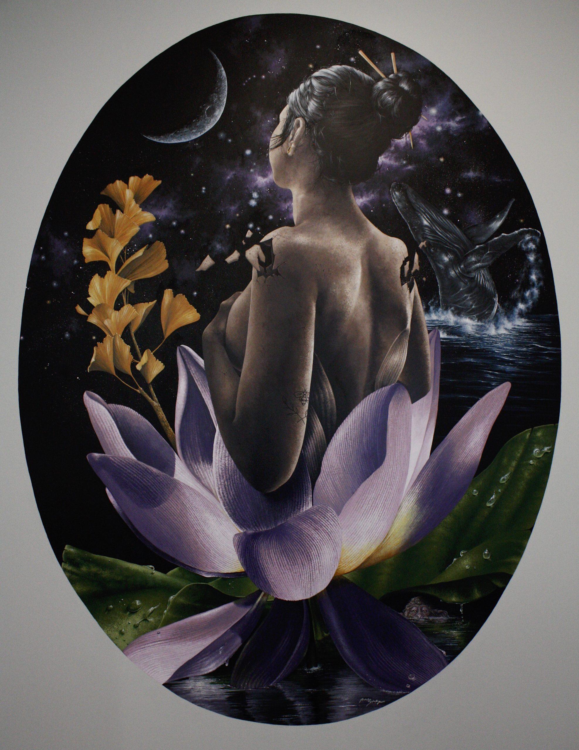 Sacred Demoiselle Lotus (Jiva Medical Spa Mural 2)