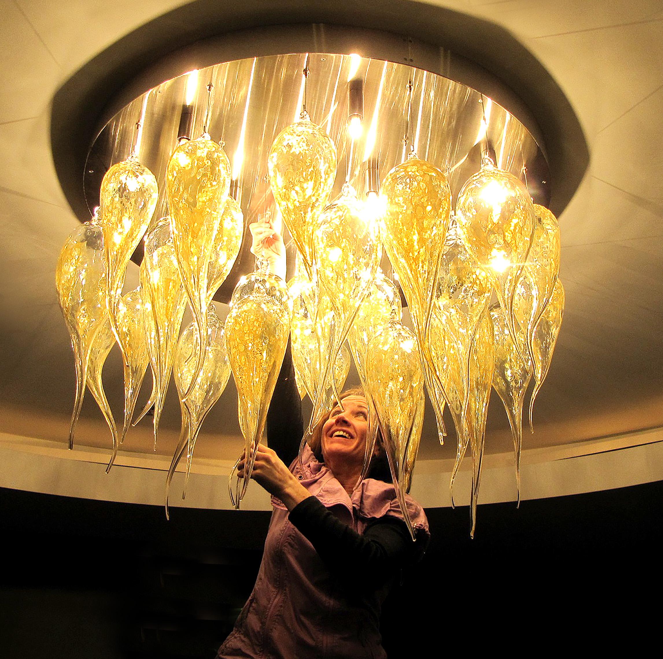 Luminosa Glass Chandelier