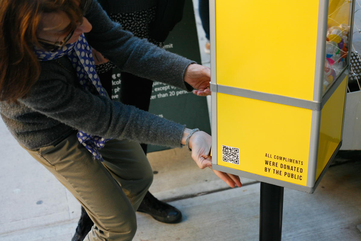 Complimentary: a free compliment vending machine