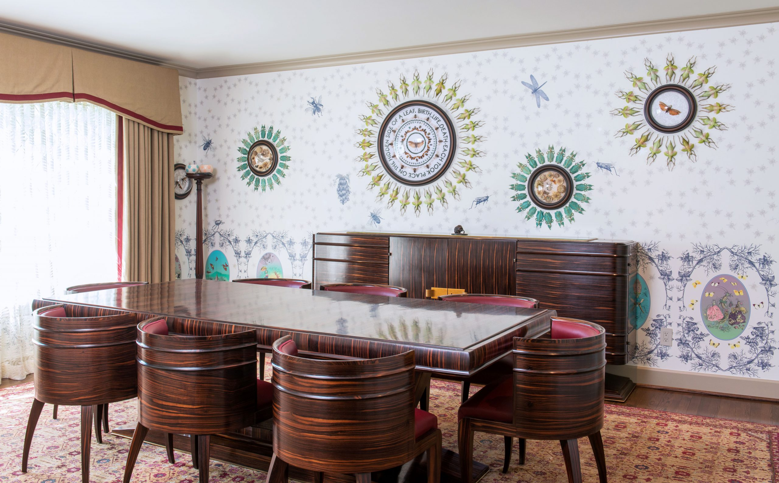 Dining room installation by Jennifer Angus
