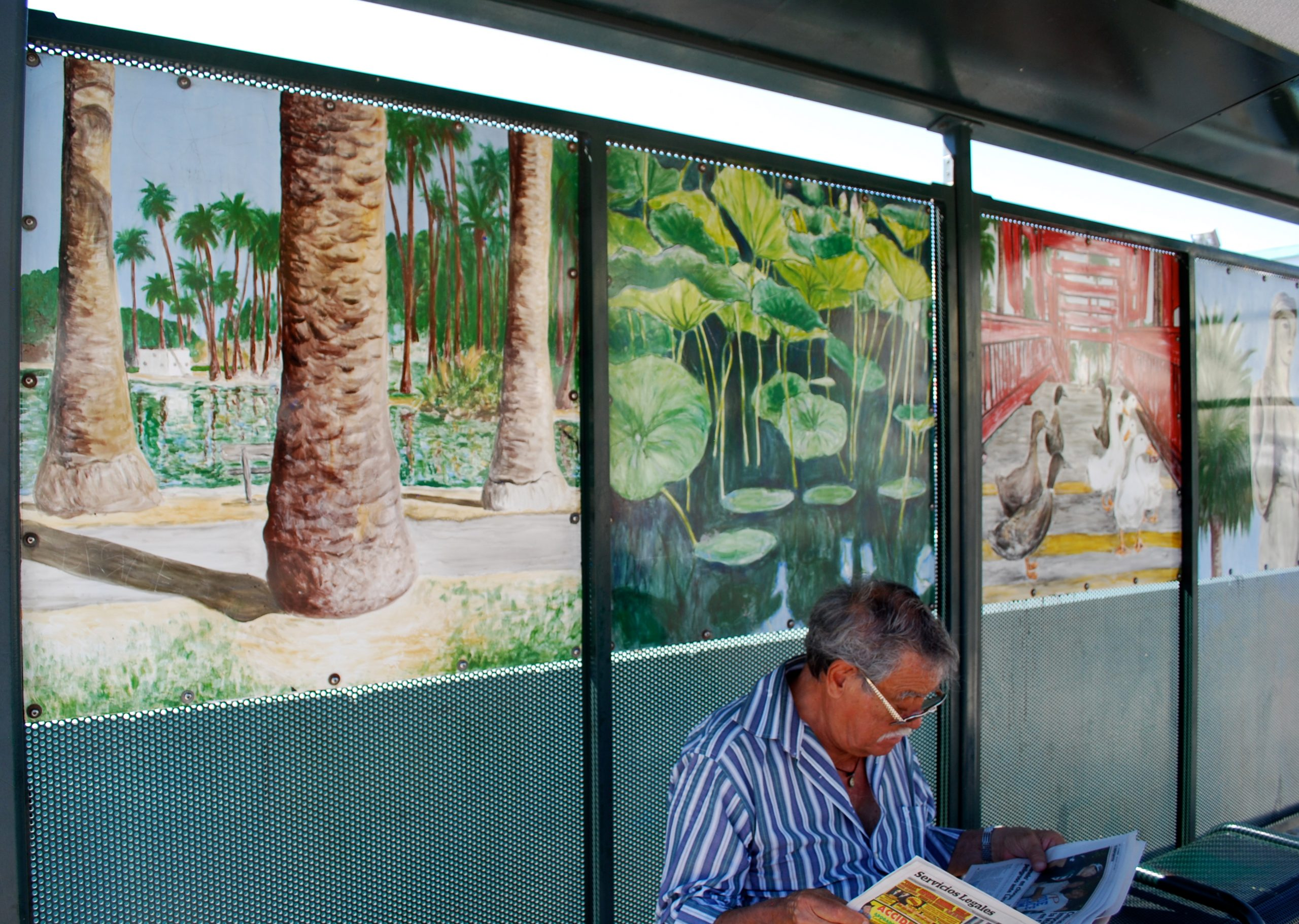 Echo Park Bus Stop Mural