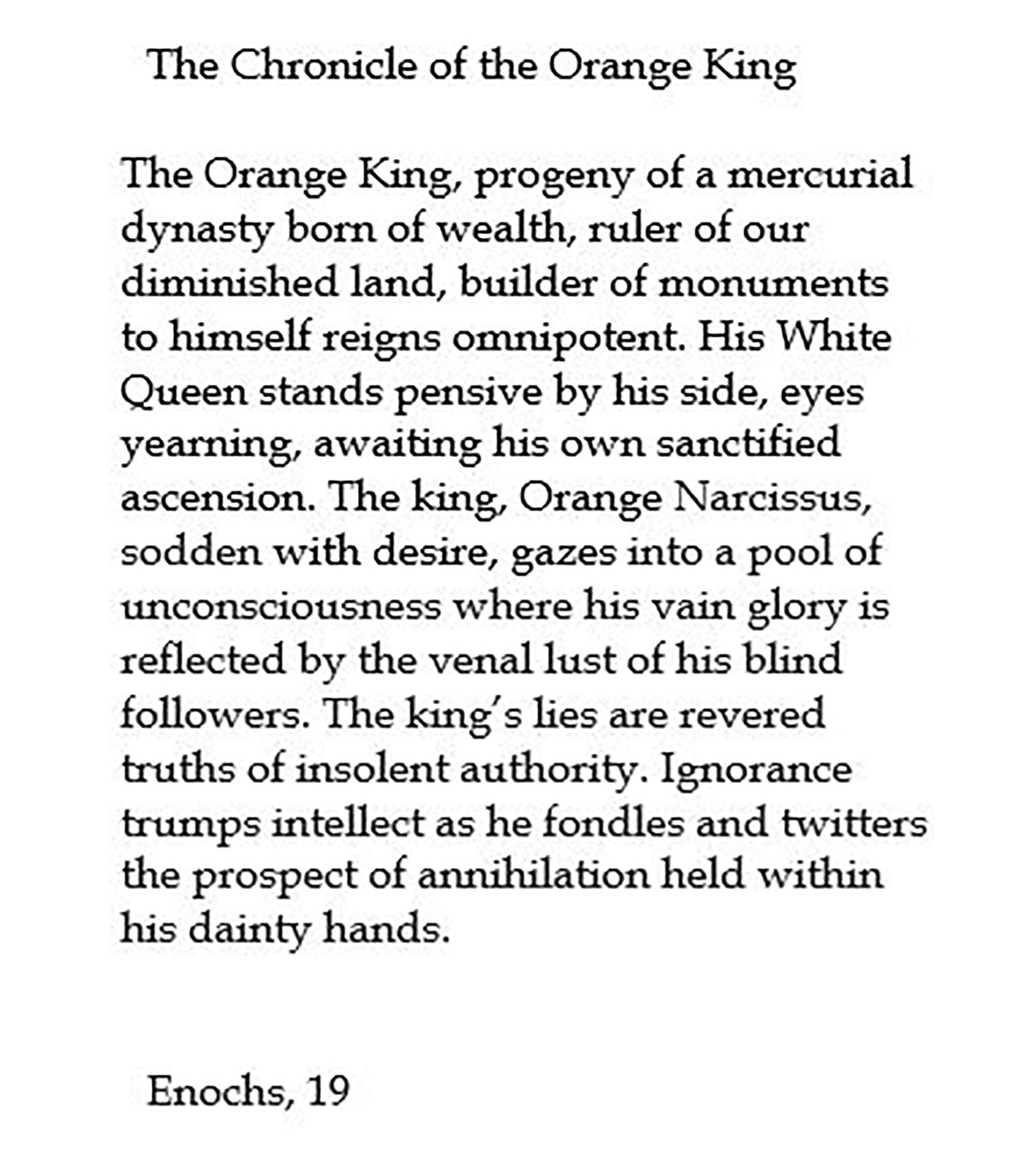 Cartouche, (Chronicle of the Orange King)