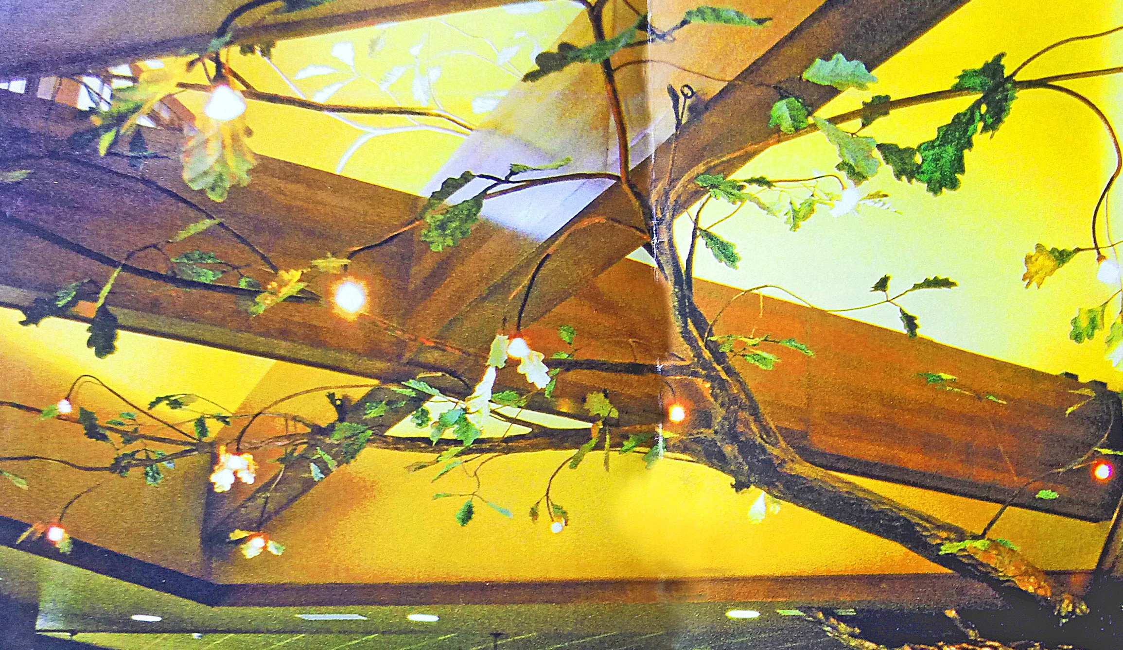 The Magic Copper Tree, Suspended Branches meet Natural Light