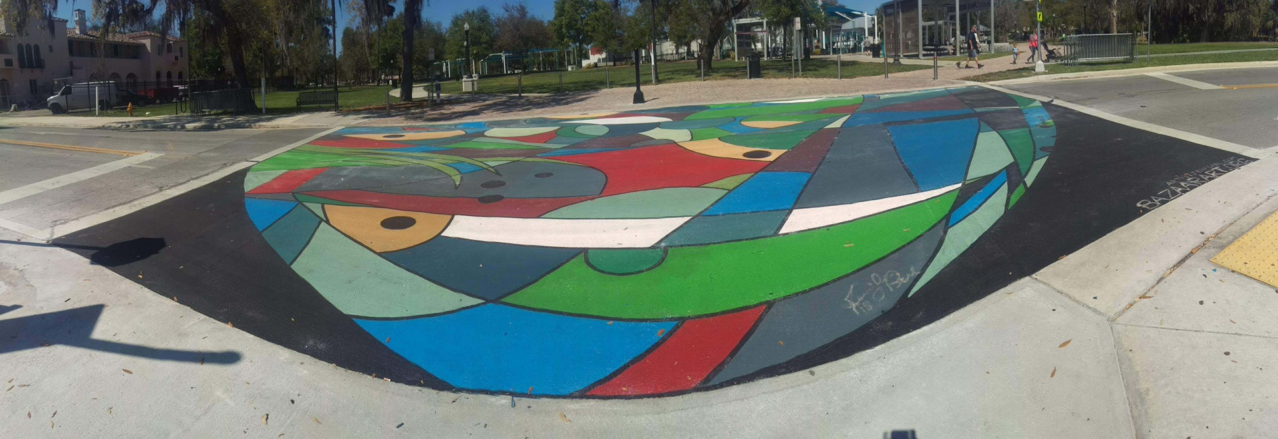 Stained Glass Crosswalk Project