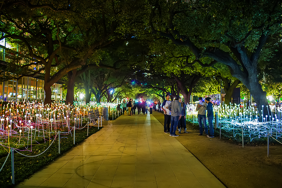 Bruce Munro's Field of Light at Discovery Green