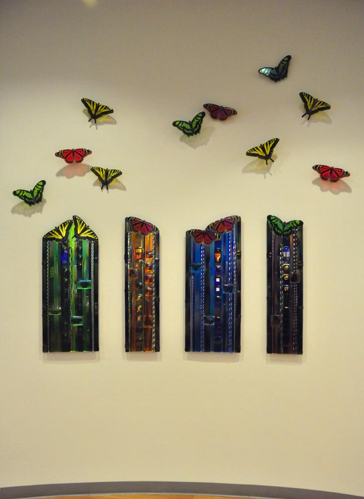 Glass Butterfly Wall