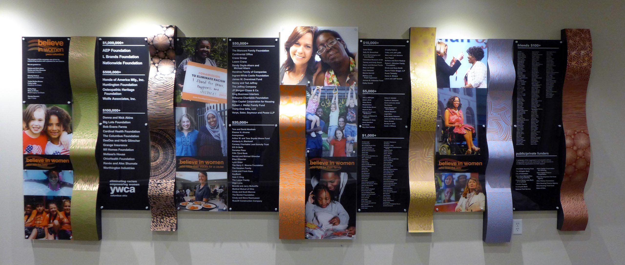 YWCA Donor Wall