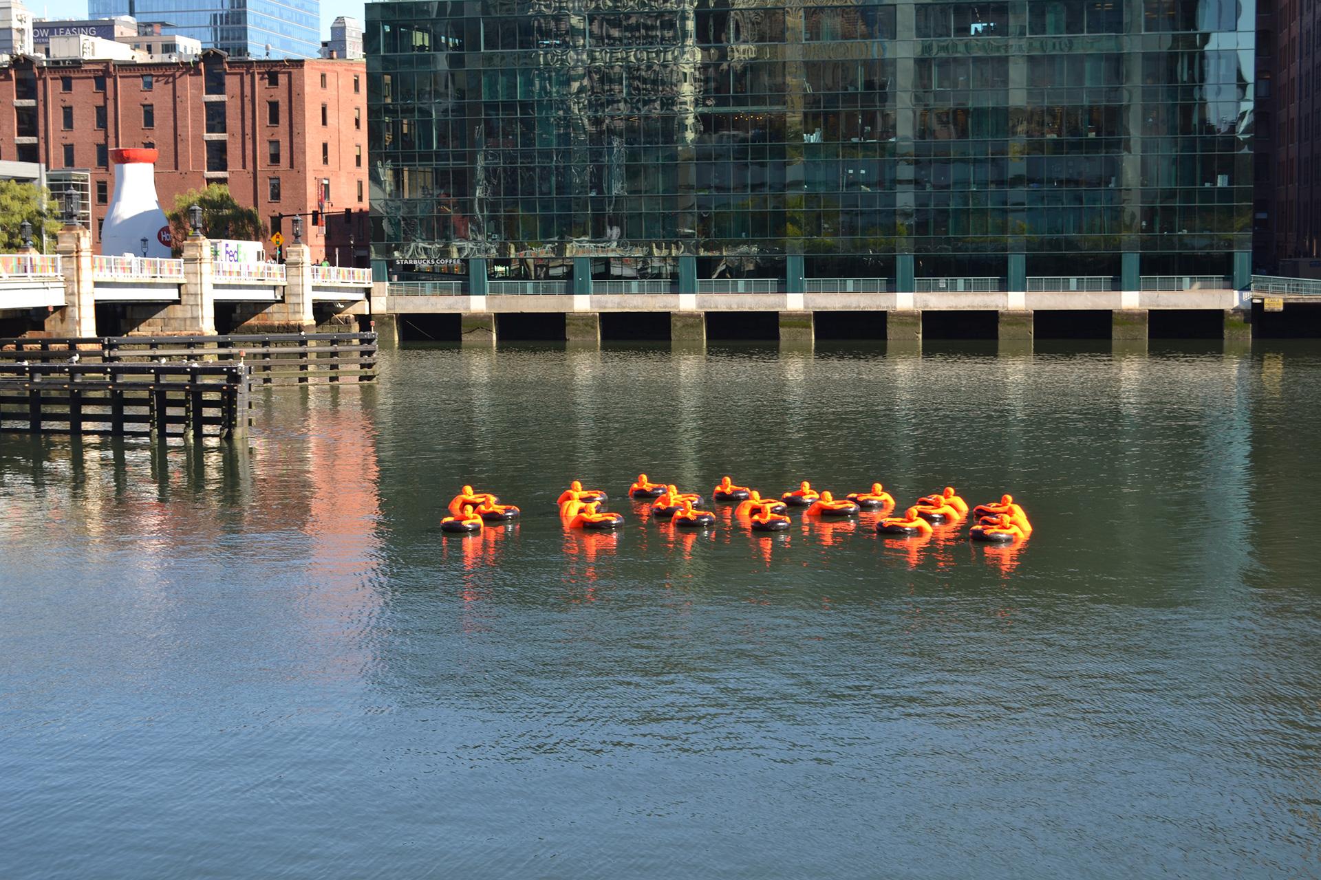 SOS (Safety Orange Swimmers)