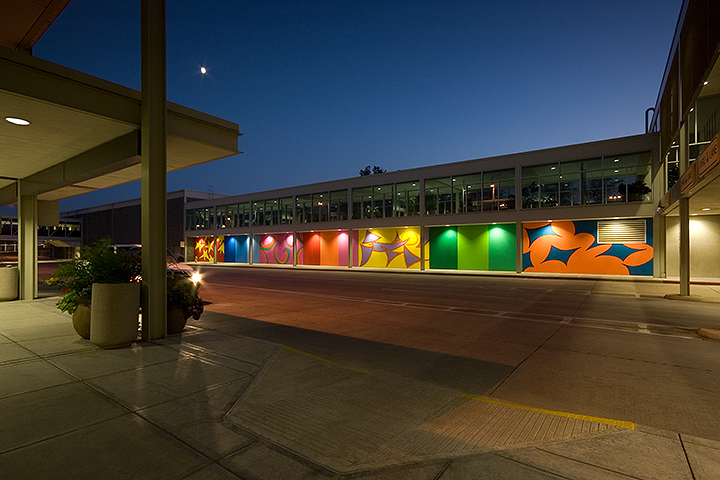 Tulsa International Airport Wall Mural