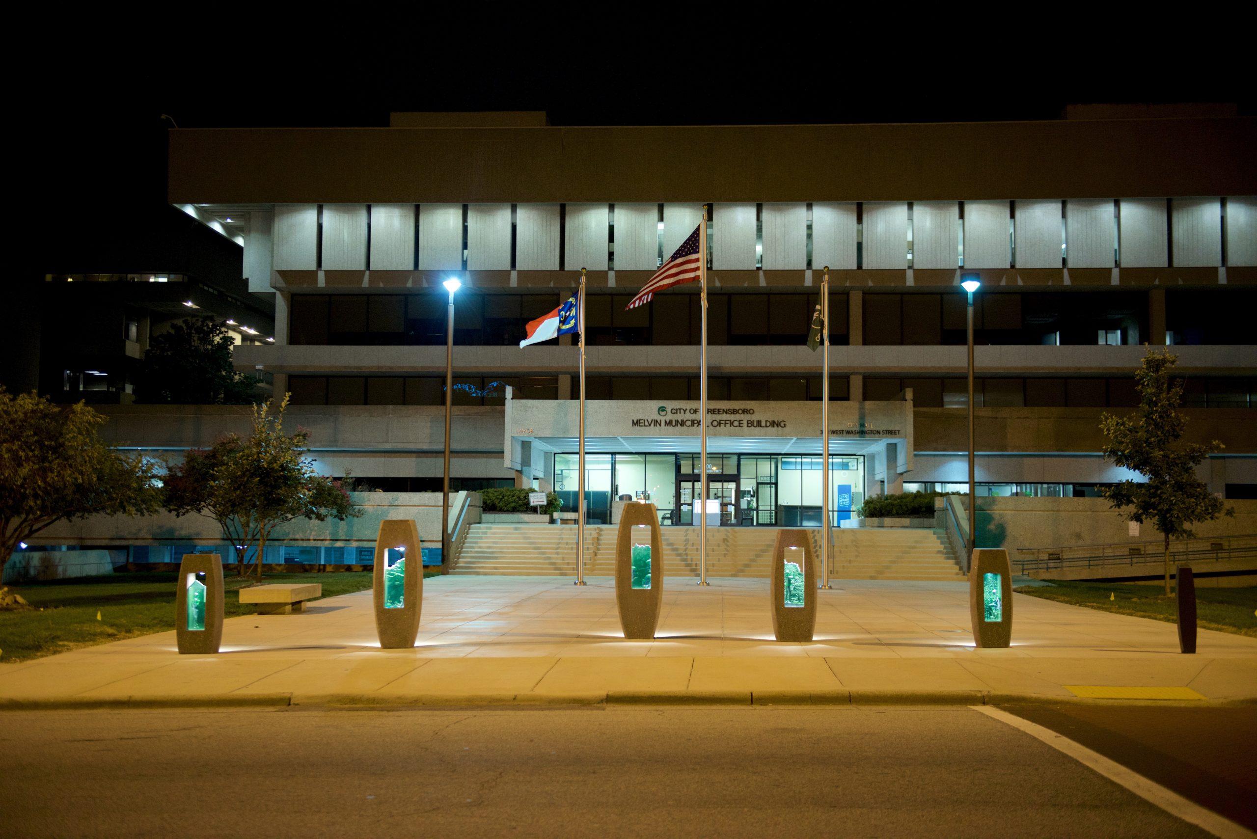 The Five Hearths – Municipal Building Bollards