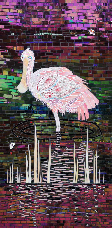 Wading Birds Triptych, Tranquility Garden at Flagler Hospital