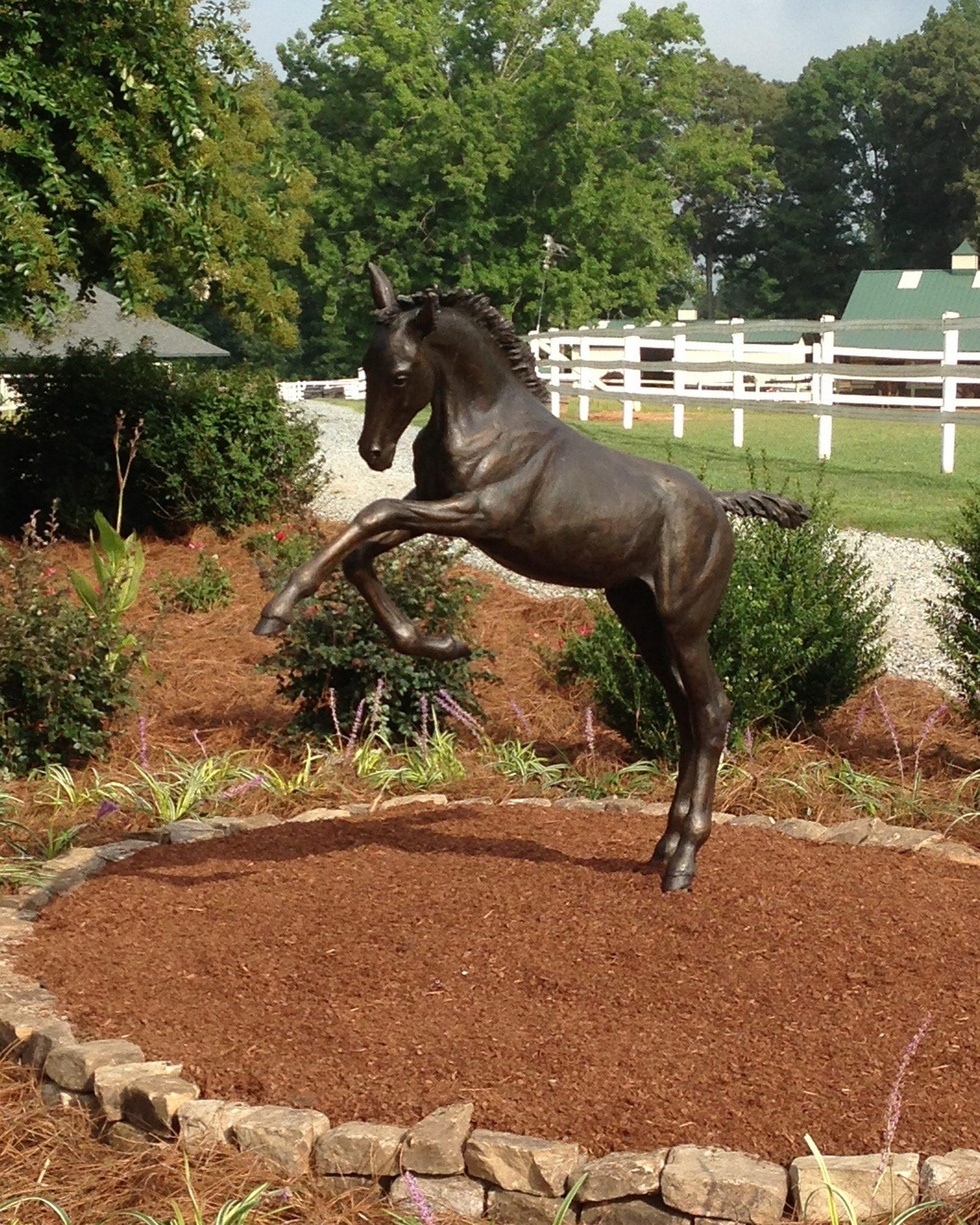 Frolicking Foal – Life-size bronze Foal