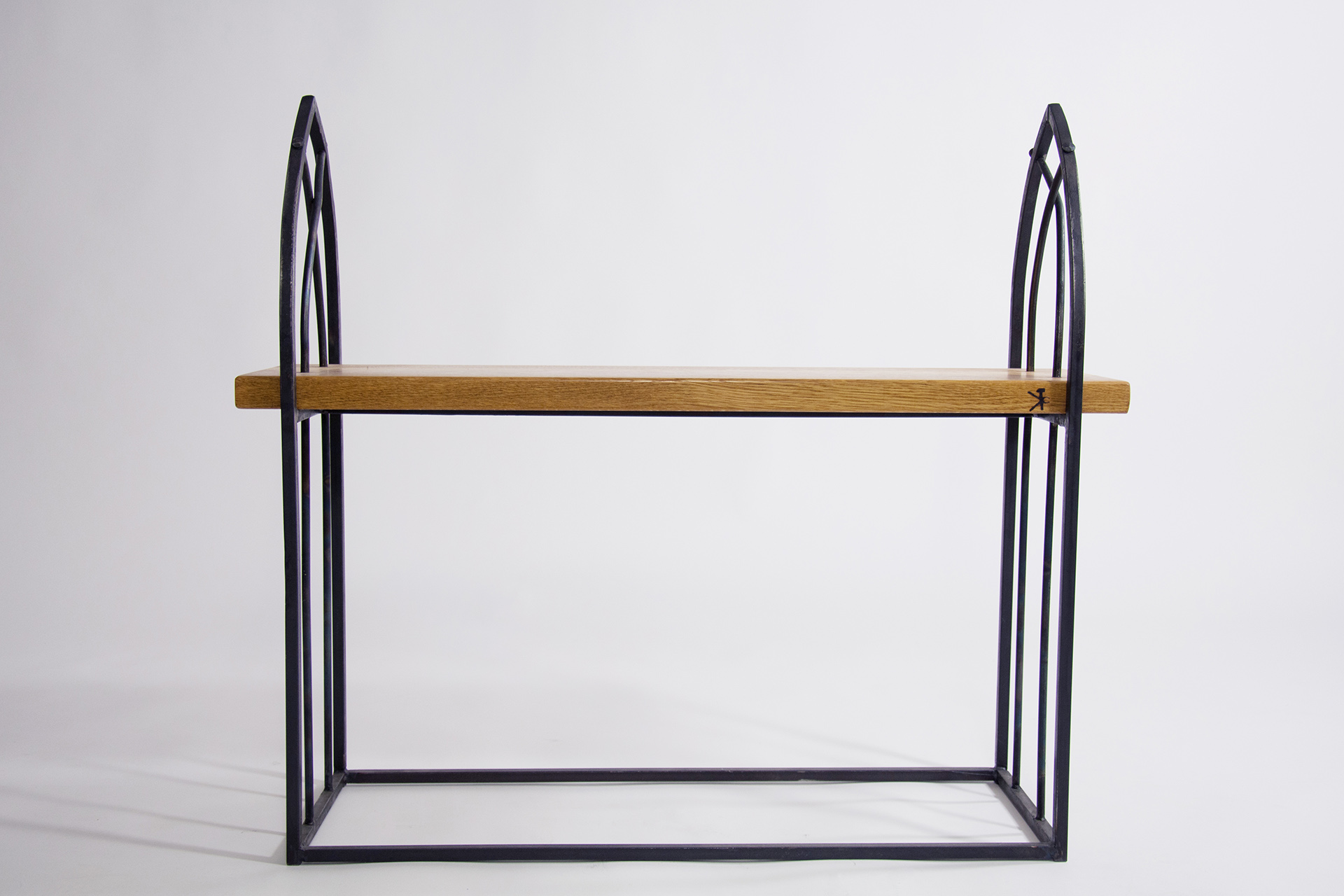 "Wrought Iron Bench ""Gothic"""