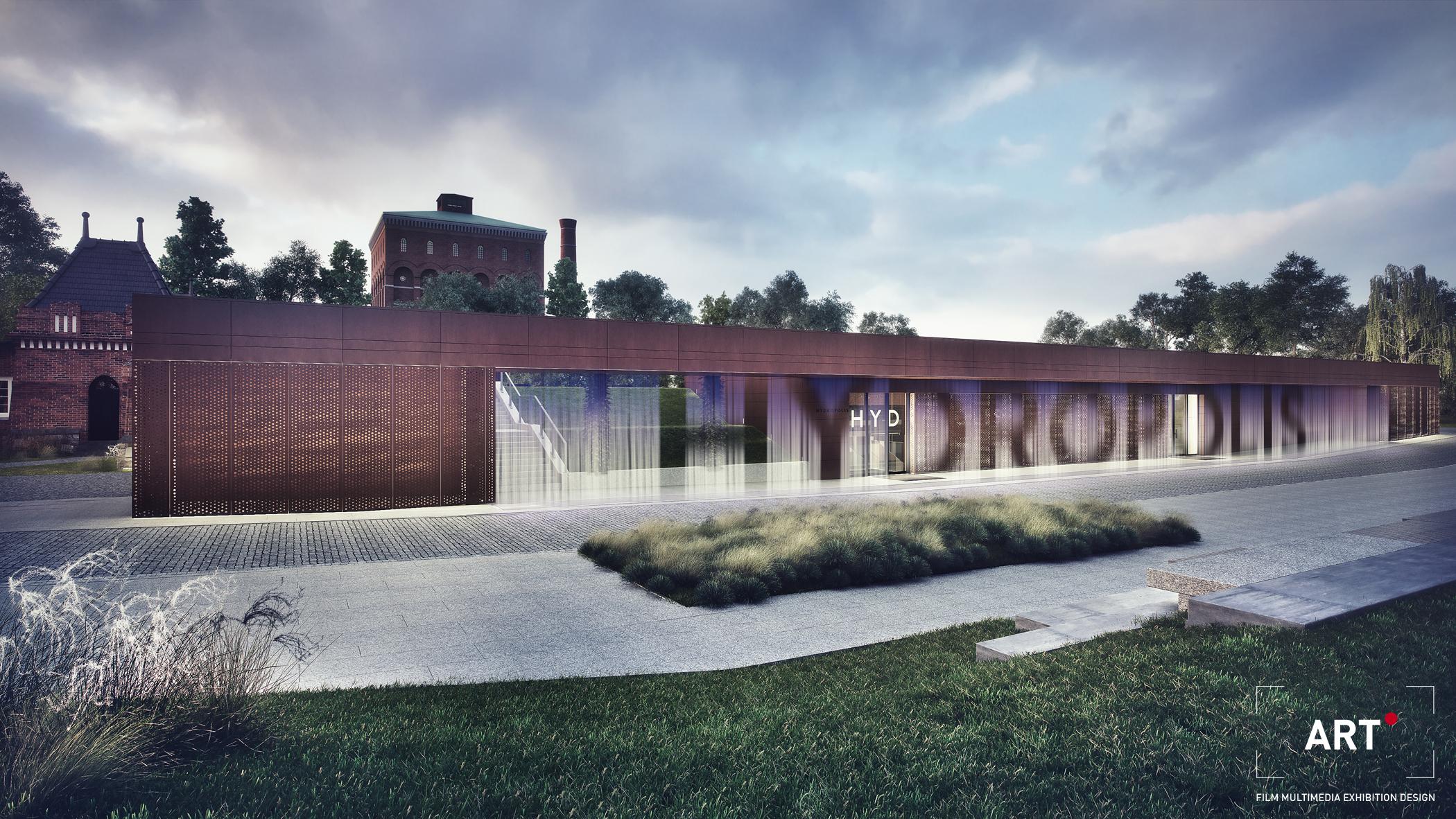 Digital Water Wall at Hydropolis