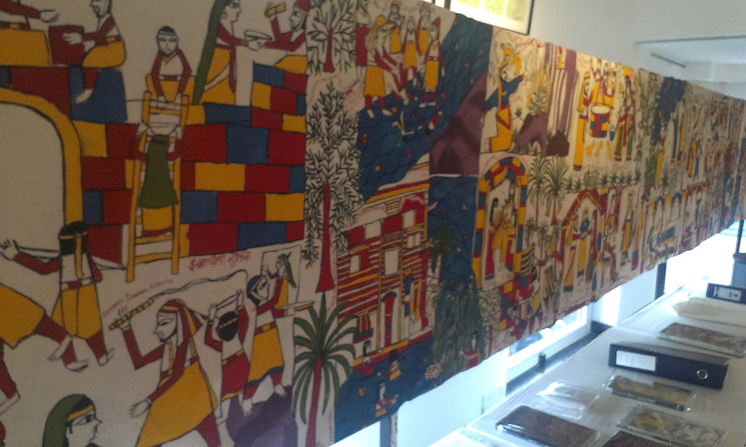 BIBLE SCROLL PAINTING: 120-METER-LONG 42 INCH BROAD ON CANVAS